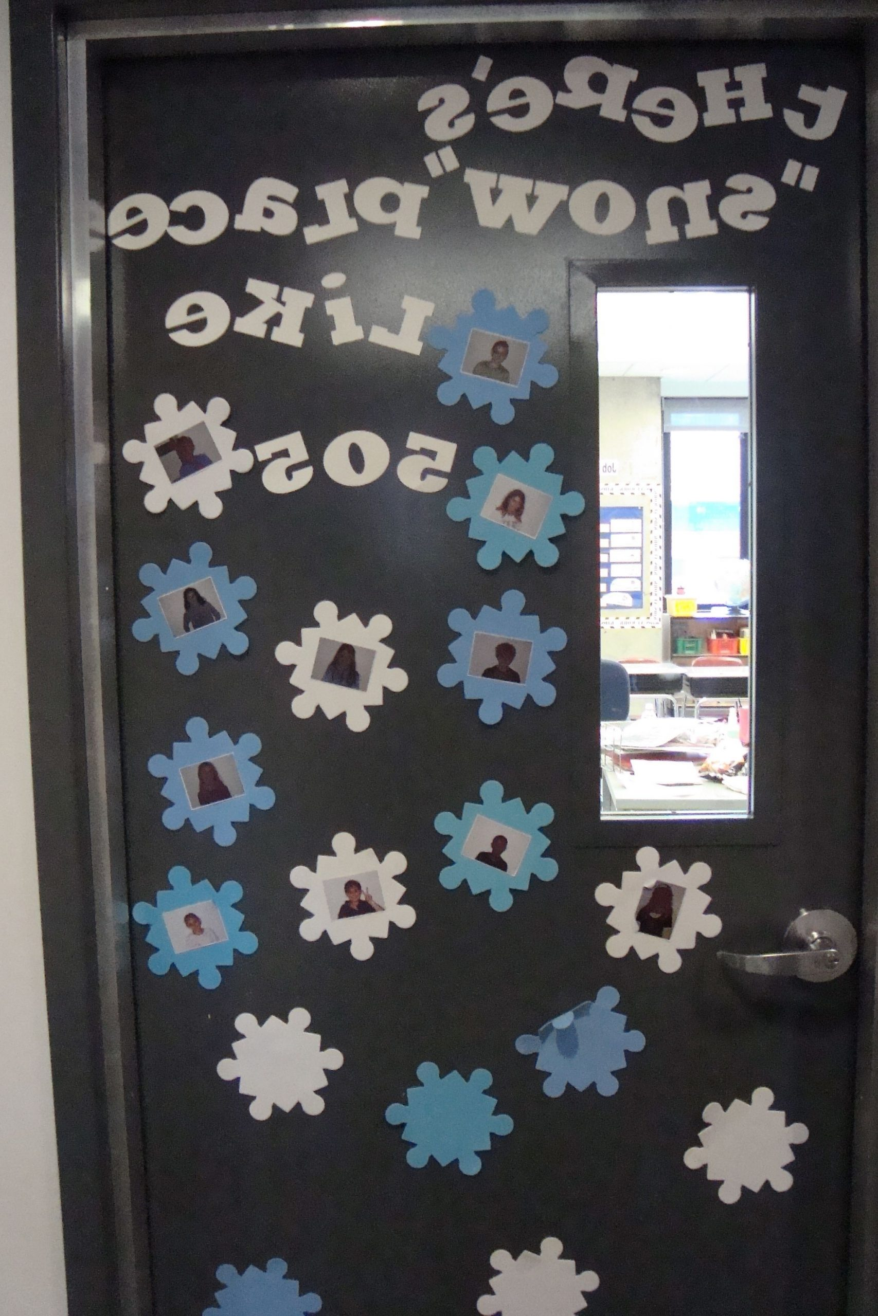Theres Snow Place Like 505 Winter Door Decoration