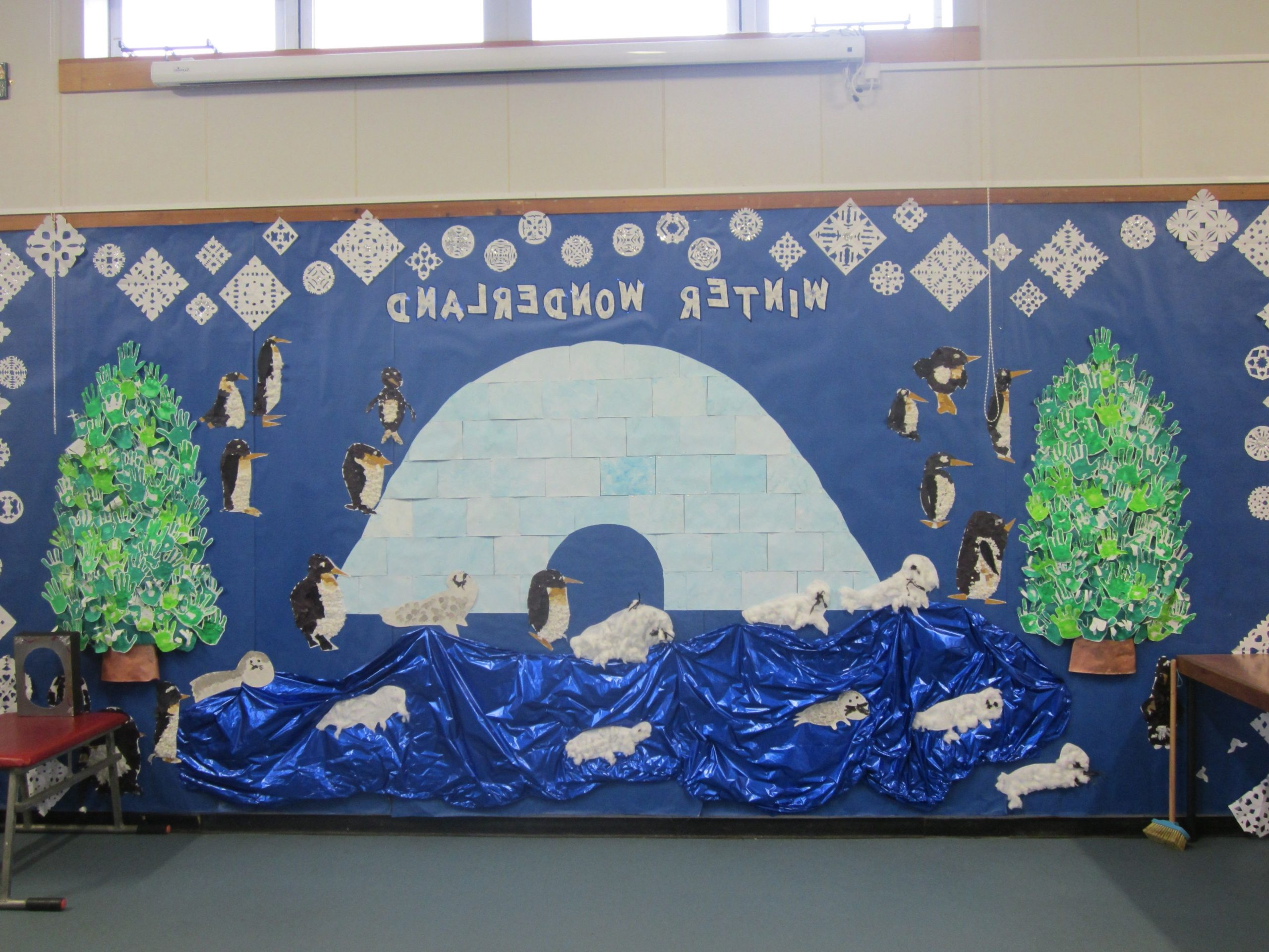 Whole School Winter Wonderland Board For The Hall Winter