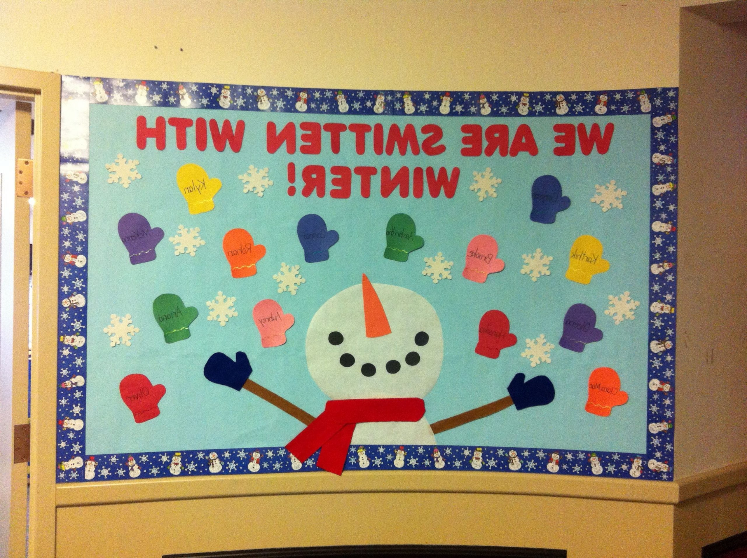 Winter Bulletin Board We Are Smitten With Winter And The