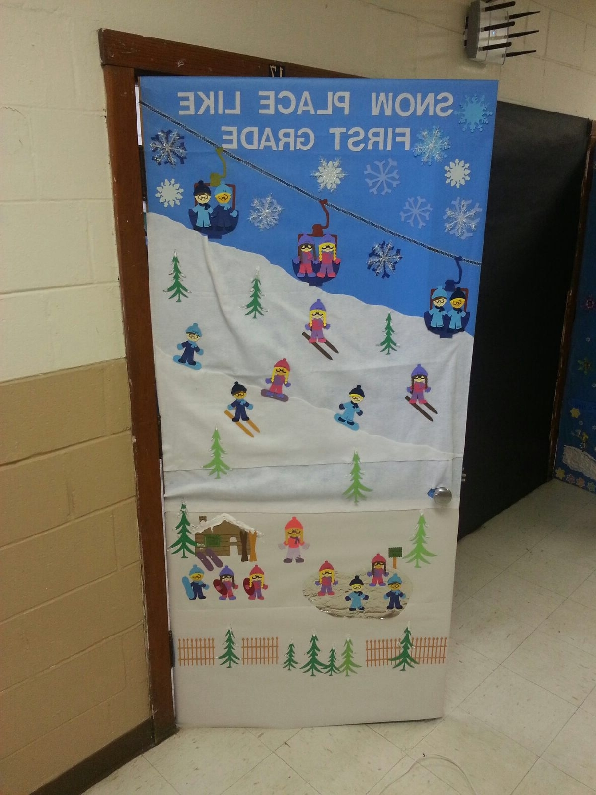 Winter Classroom Door School Door Decorations Winter