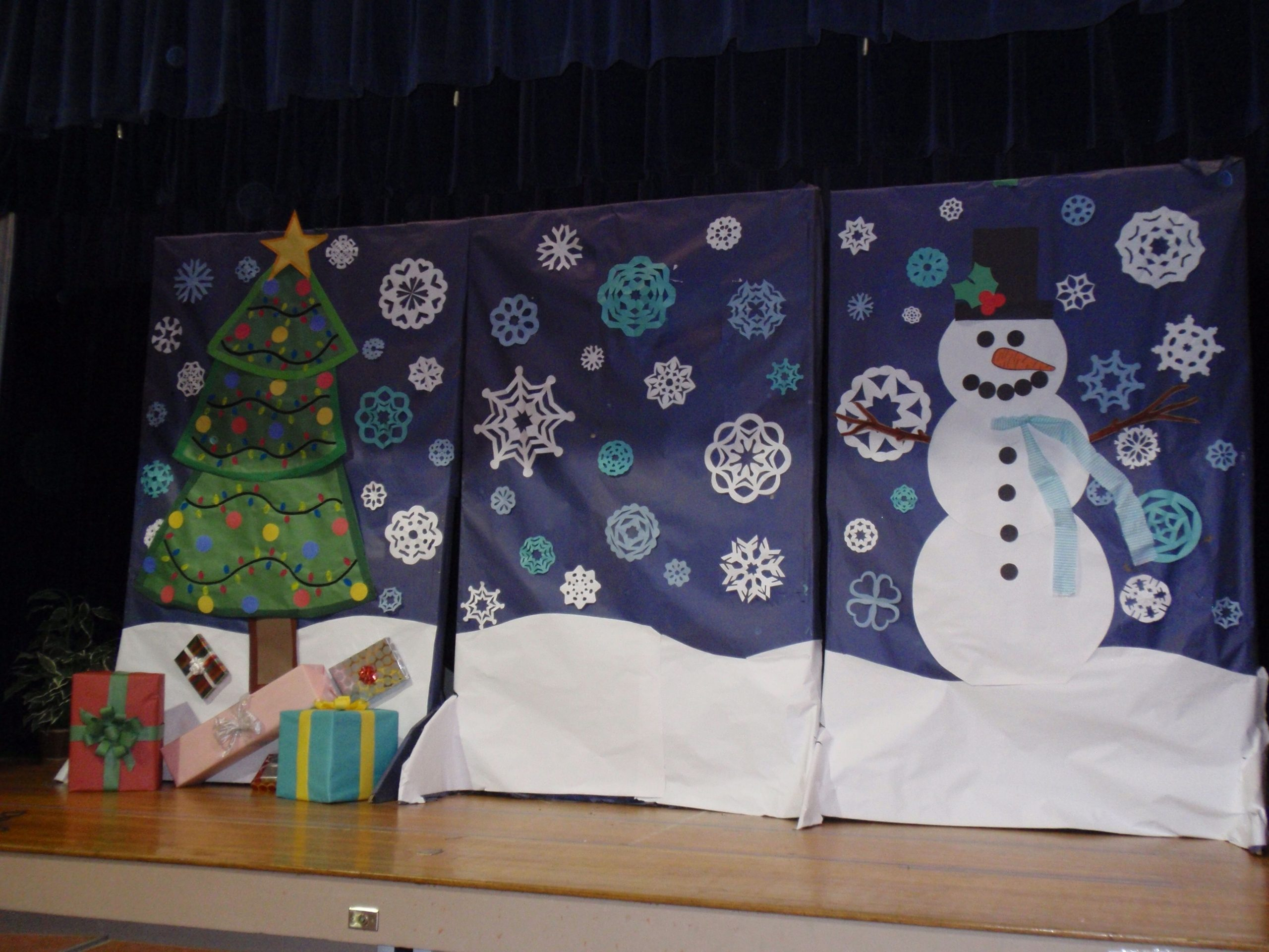 Winter Program Backdrop Id Need To Shorten These And Hang