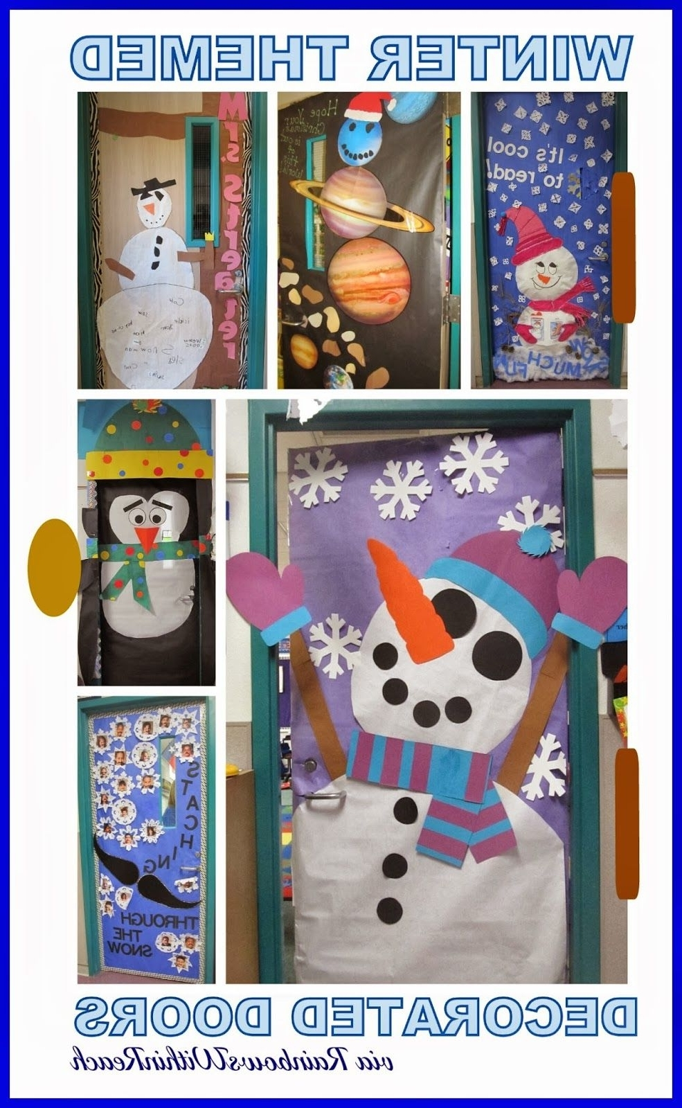 Winter Themed Decorated Classroom Doors Door Decorations