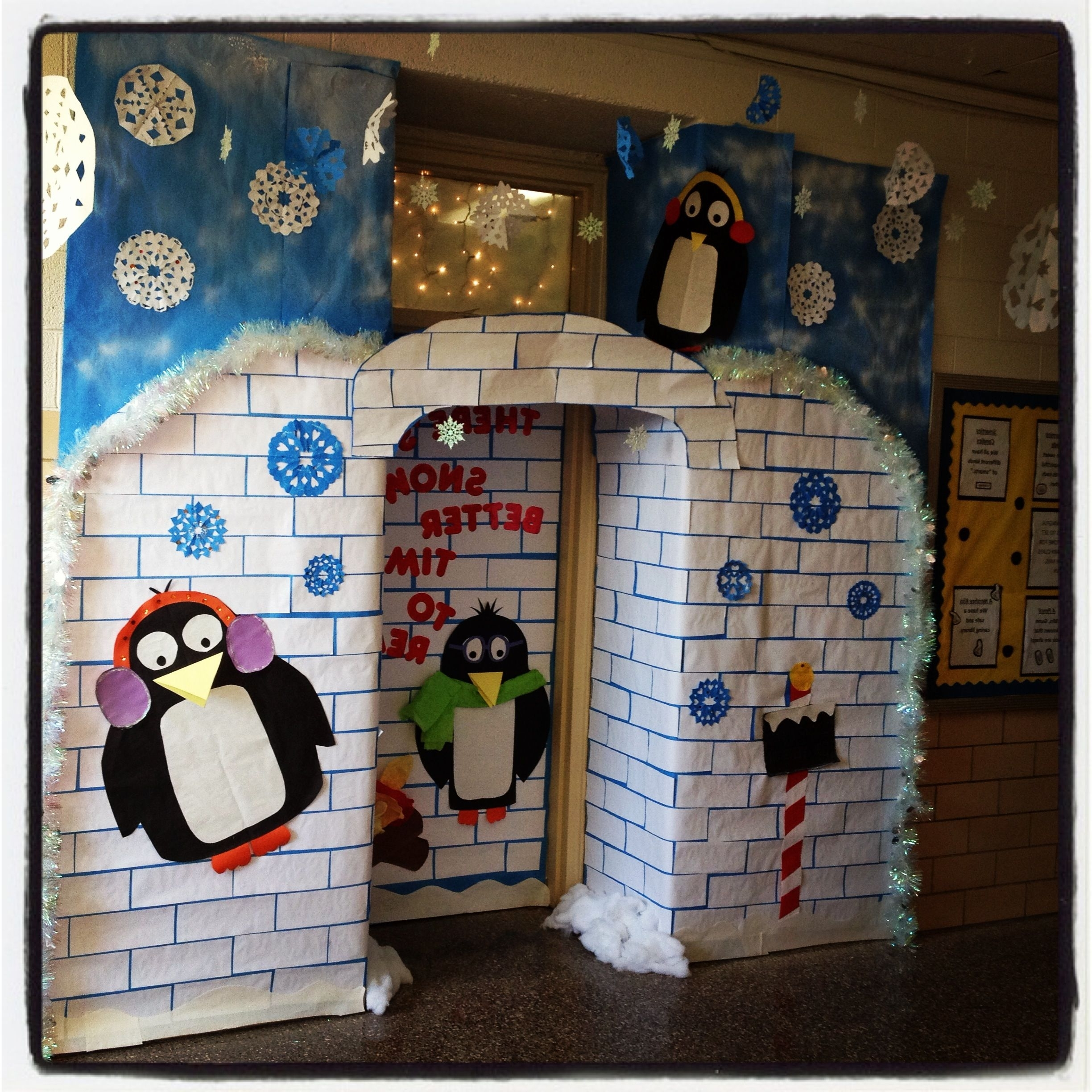 Winter Wonderland Classroom Door Definitely Appropriate