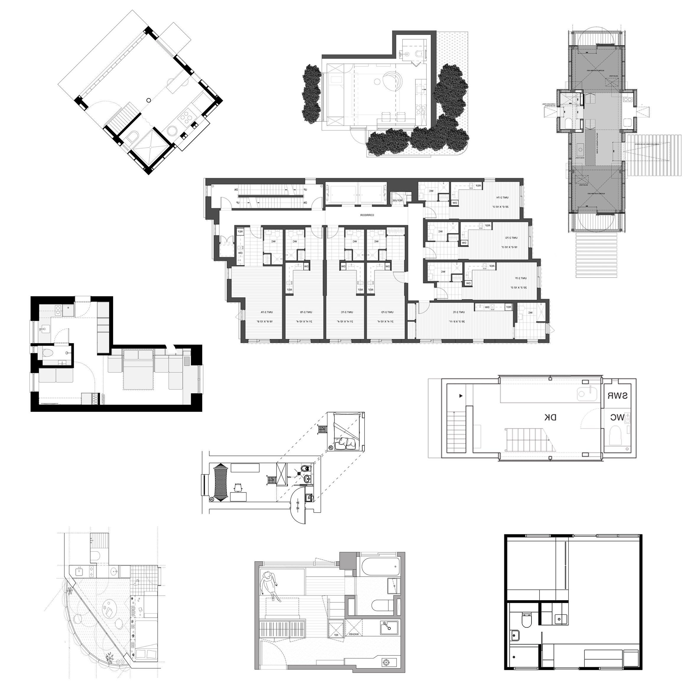 10 Micro Home Floor Plans Designed To Save Space 10+ Micro Apartment Design Plans Inspirations