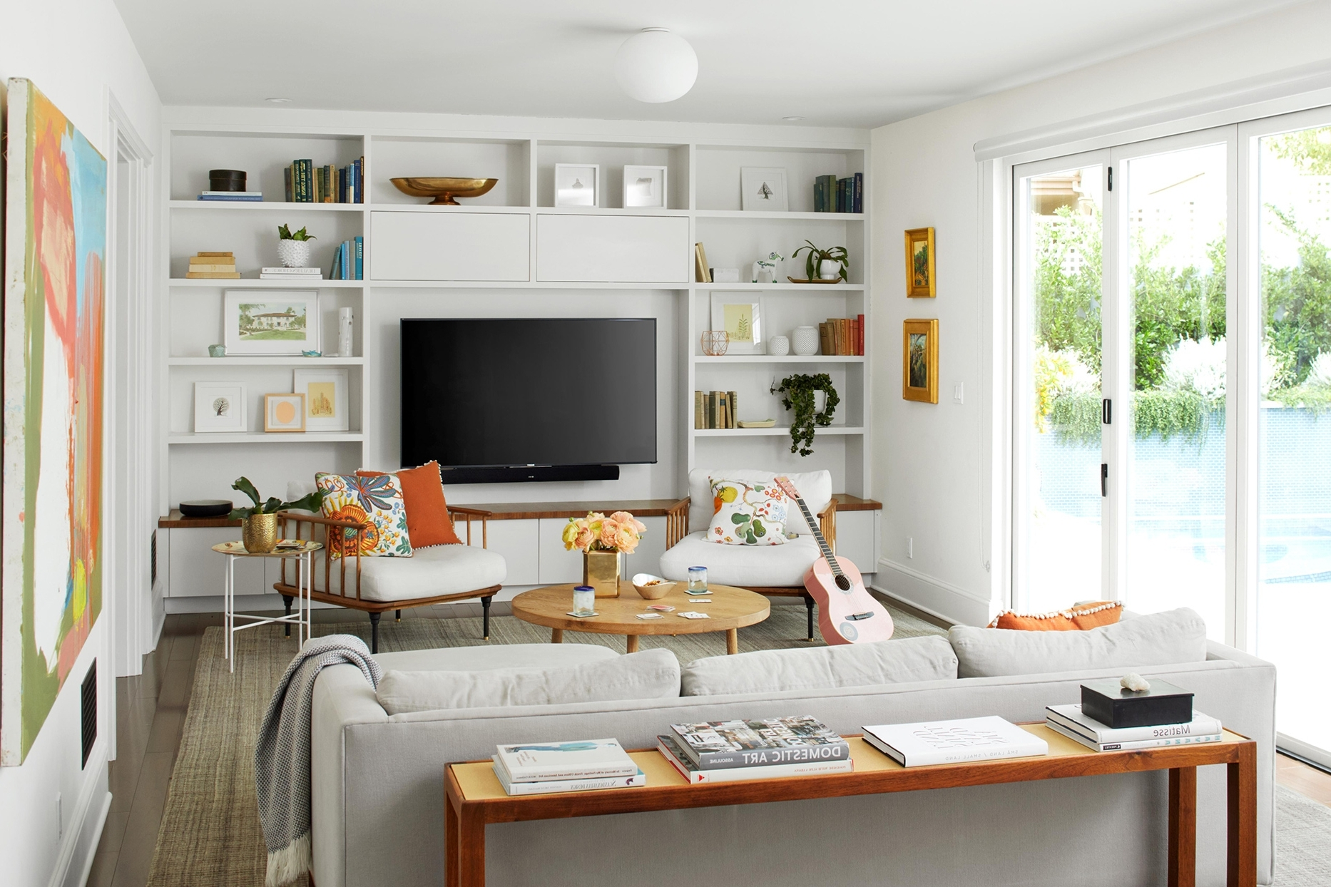 15 Stylish Ways To Decorate With A Tv | Better Homes & Gardens 40+ Decorating Living Room With Flat Screen Tv Inspirations