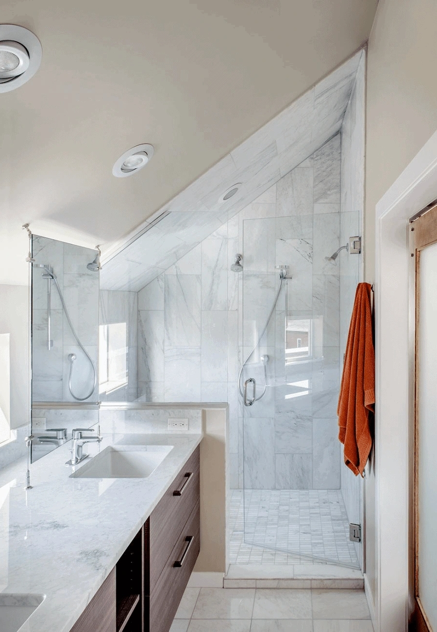20 Best Tiny Attic Bathroom Ideas For Sloped Attic Small Bathroom With Sloped Ceiling