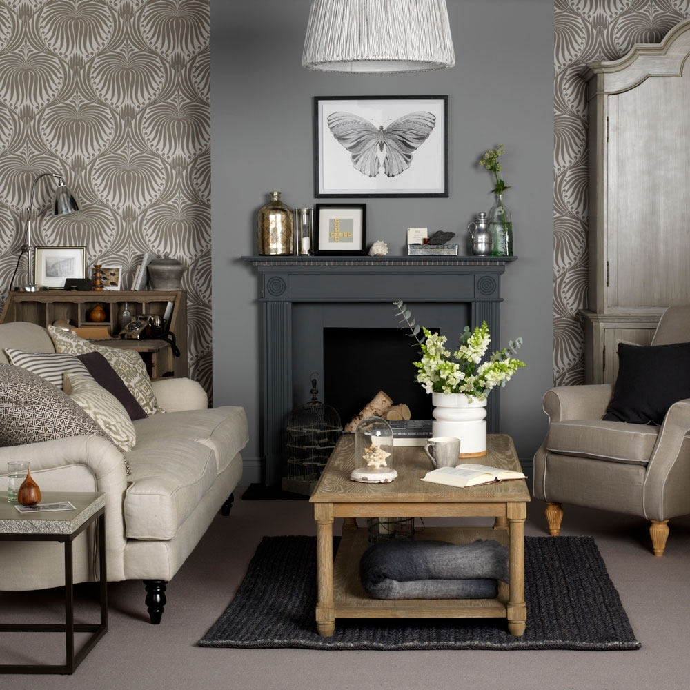 21 Living Room Wallpaper Ideas – Wallpaper To Transform Your Small Living Room With Chimney Breast