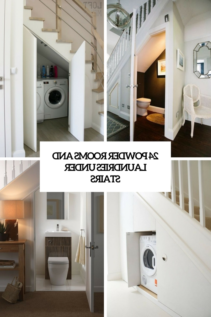 24 Powder Rooms And Laundries Under Stairs Digsdigs Bathroom Under Stairs Design