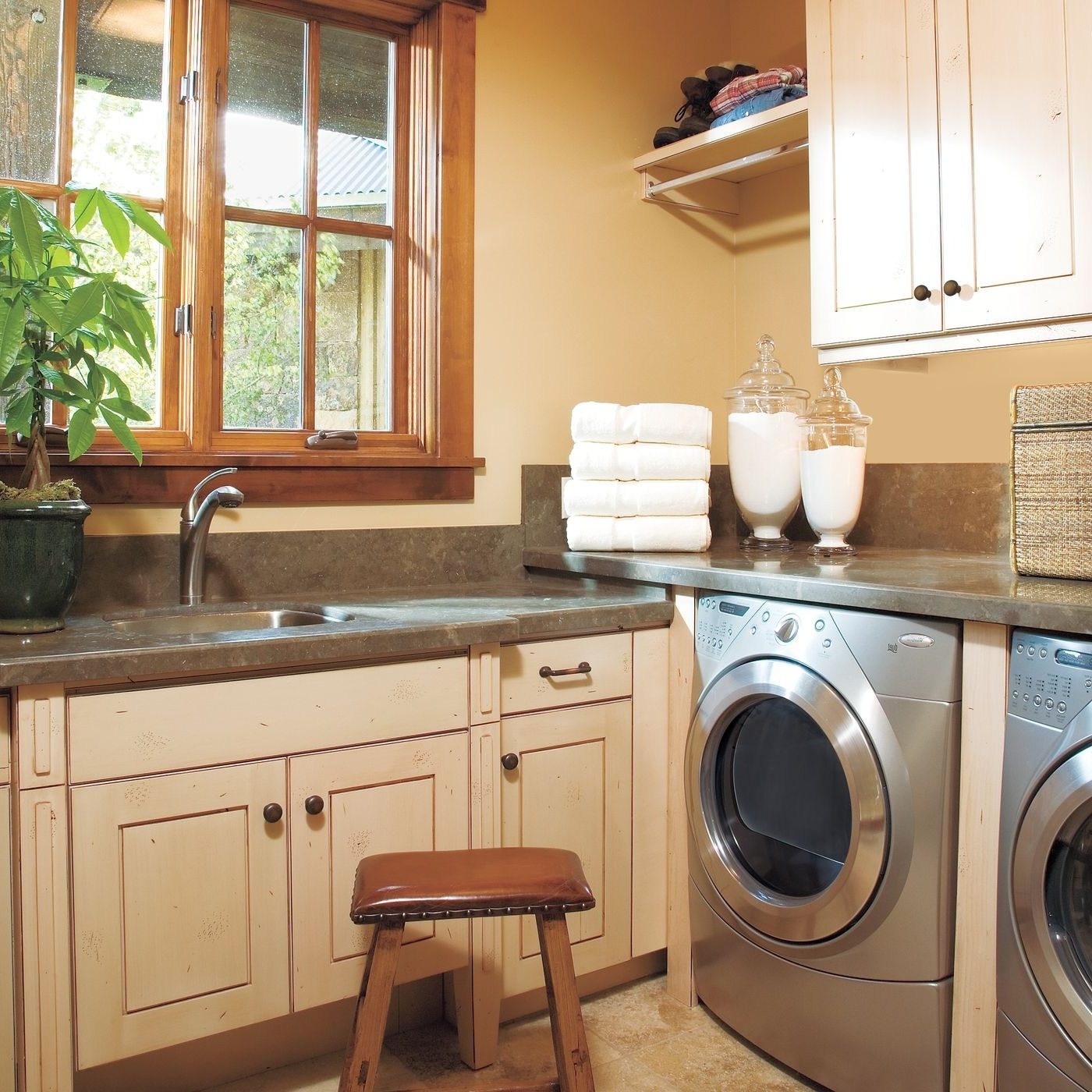 27 Ideas For A Fully Loaded Laundry Room This Old House Designs For Laundry Room Bathroom Combination