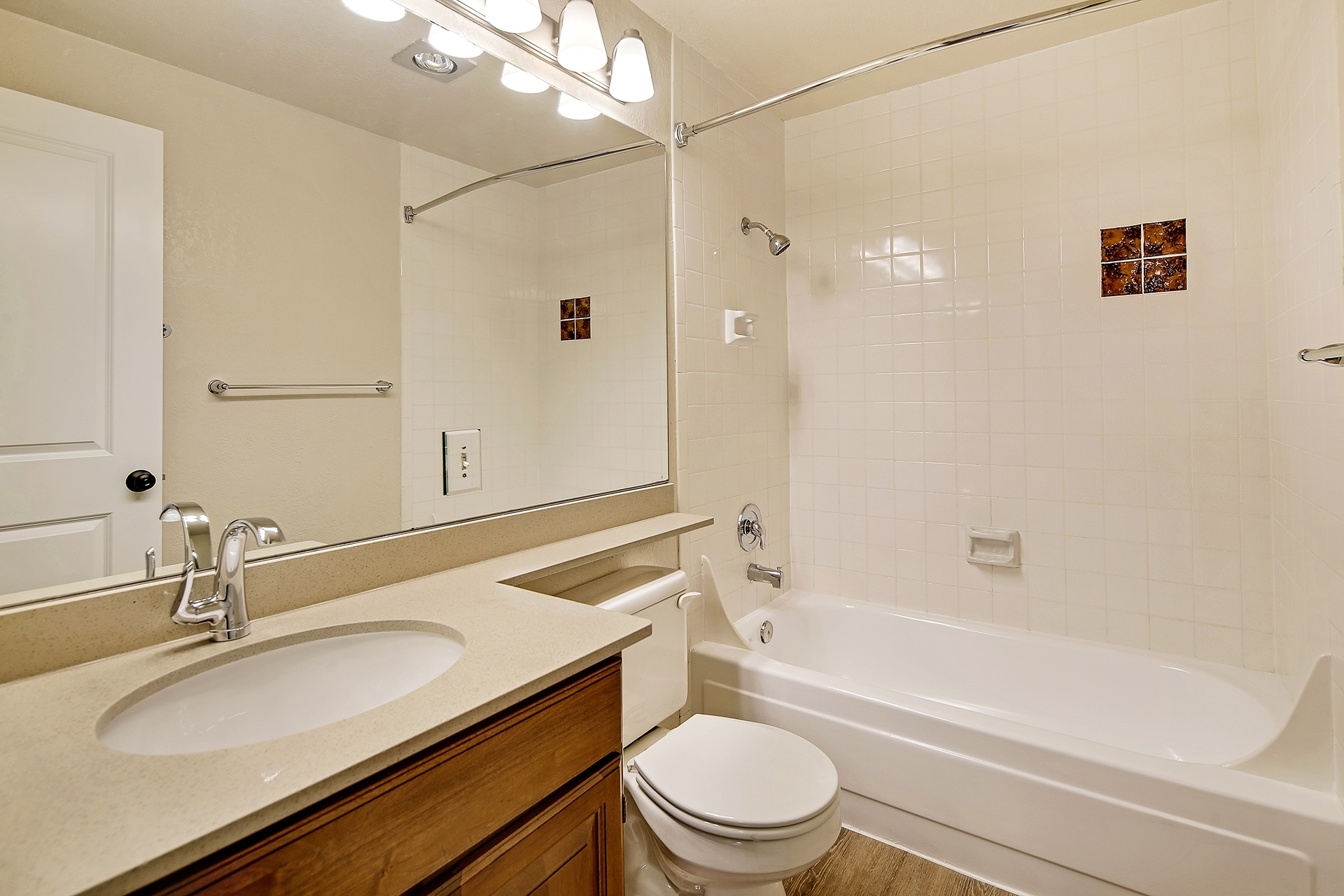 2X2 Full Renovation Bathroom 2 Pinewood Village Apartments 2X2 Bathroom Design
