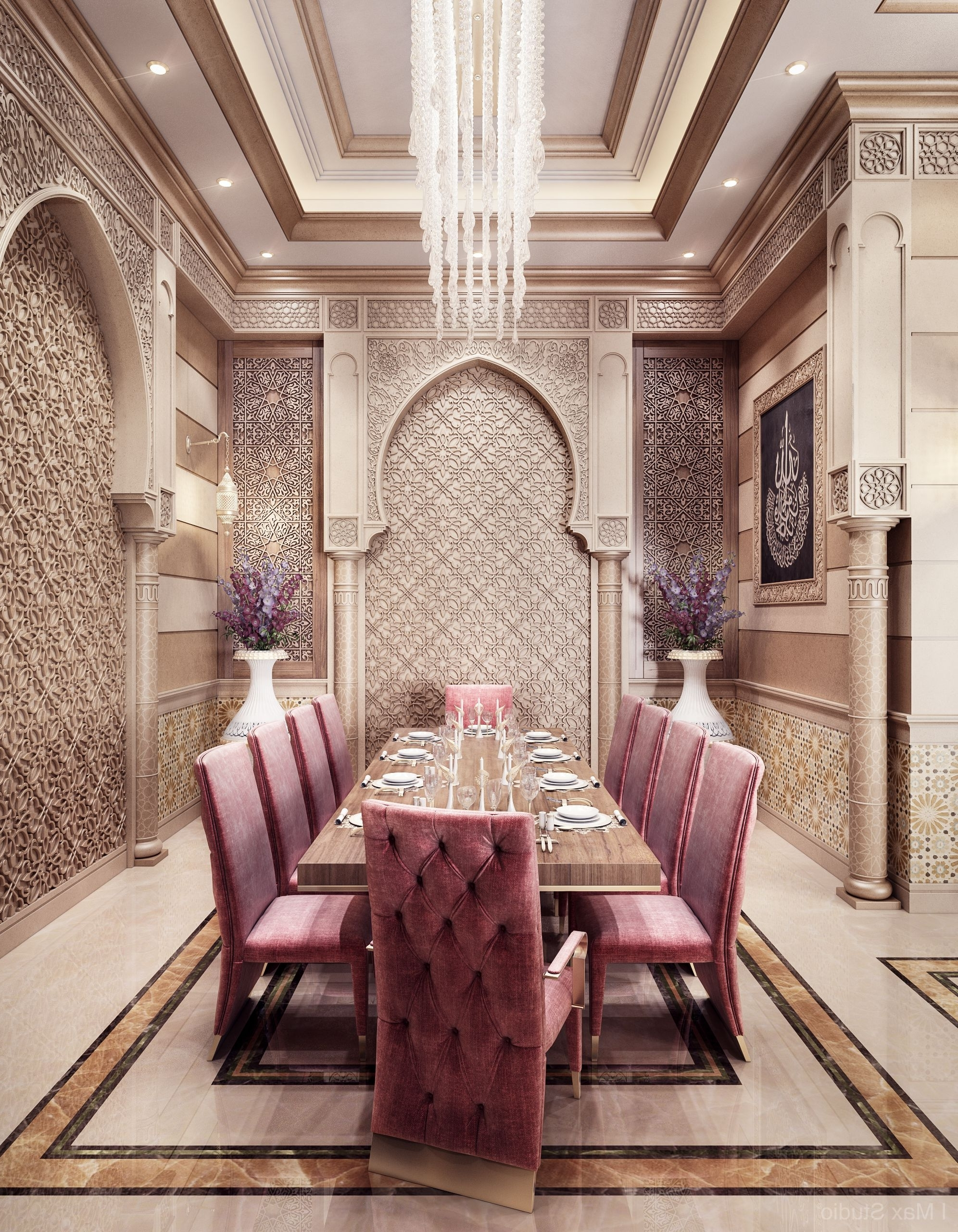 3 Furnishings. The Furniture In A Modern Arabian Style Home Arabian Dining Room Decor