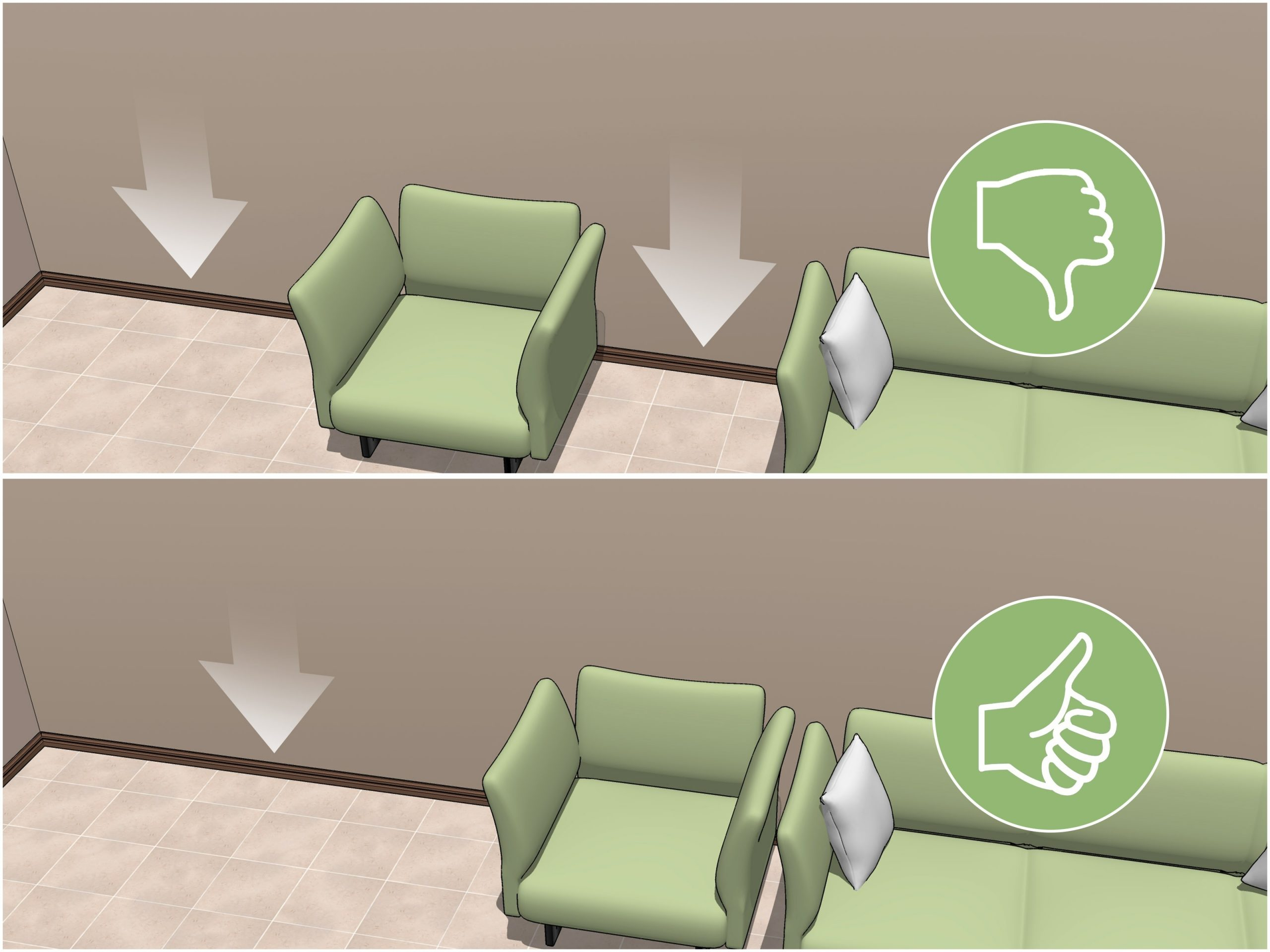 3 Ways To Decorate An Oddly Shaped Living Room Wikihow L Shaped Living Room Dining Room Decorating