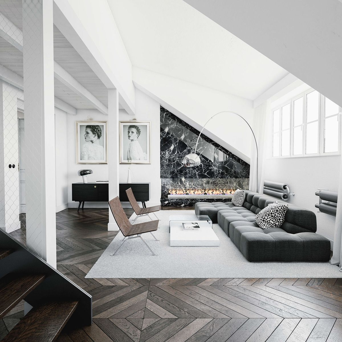 30 Black & White Living Rooms That Work Their Monochrome 30+ Monochrome Living Room Decorating Inspirations