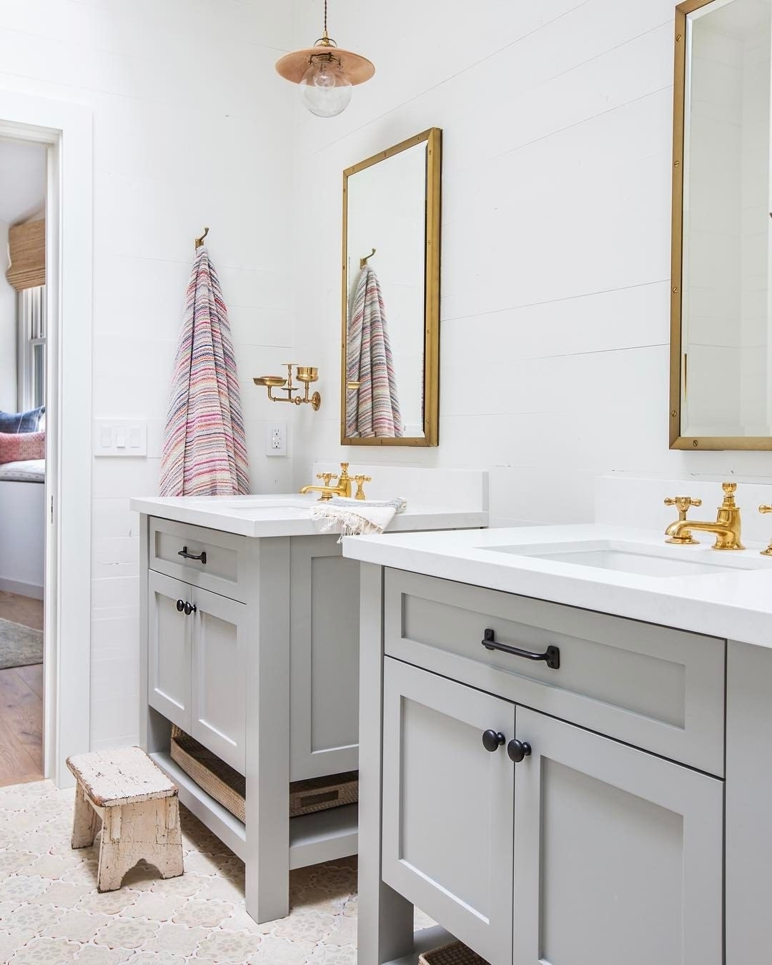 4,731 Likes, 63 Comments Amber Lewis (@Amberinteriors) On 20+ Cute Jack And Jill Bathroom Inspirations
