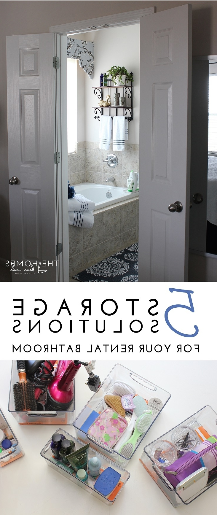 5 Storage Solutions For Your Rental Bathroom Tips | Forrent 10+ Tiny Rental Bathroom Ideas