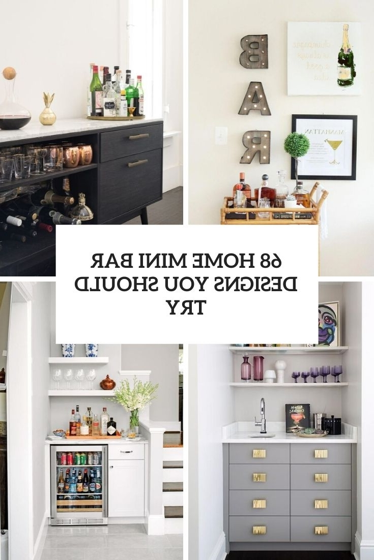 68 Home Mini Bar Designs You Should Try Digsdigs 10+ Small Living Room With Minibar Inspirations