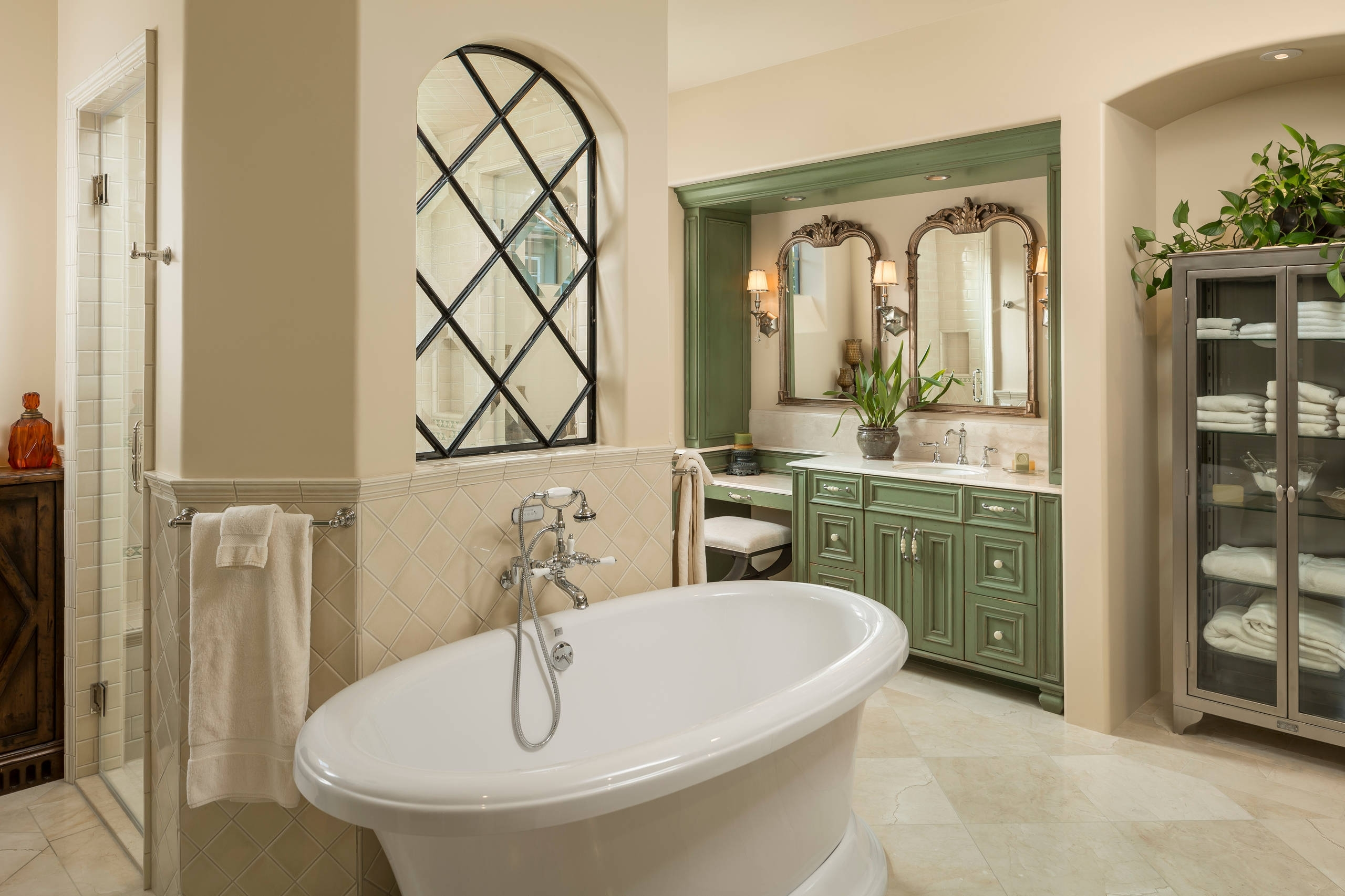75 Beautiful Double Shower With Green Cabinets Pictures Bathroom Design Studio Ipswich