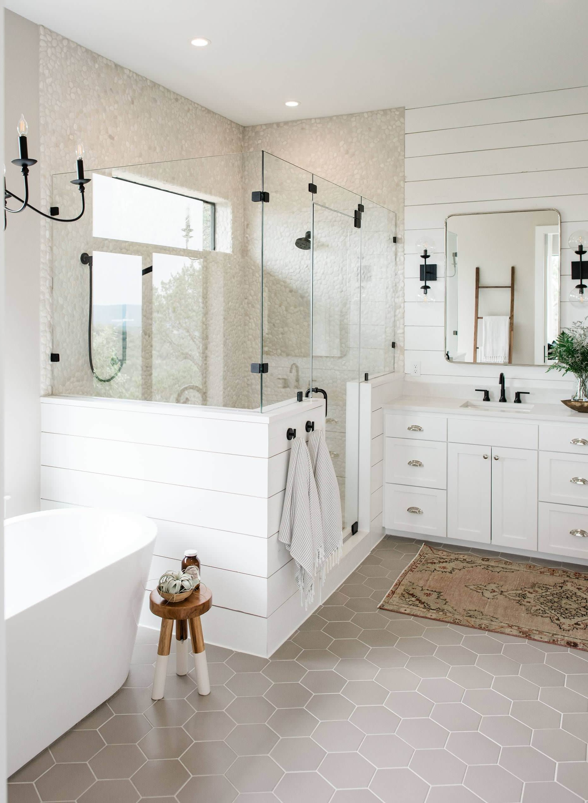 75 Beautiful Shiplap Wall Bathroom With White Cabinets 40+ Chapel Hill Design Bathroom Accessories Inspirations