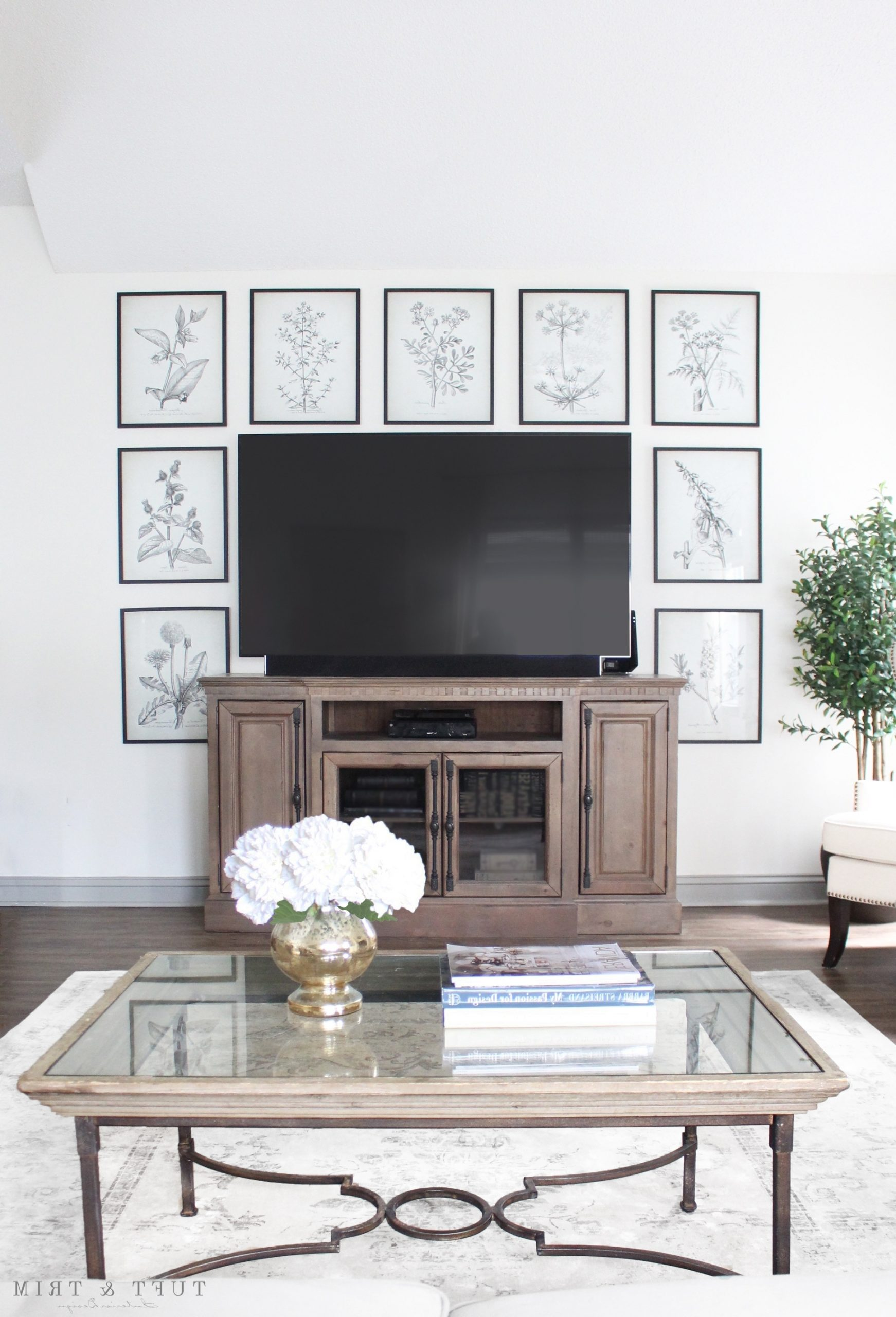8 Creative Ways To Decorate Around Your Tv Tuft & Trim Decorating Living Room With Flat Screen Tv
