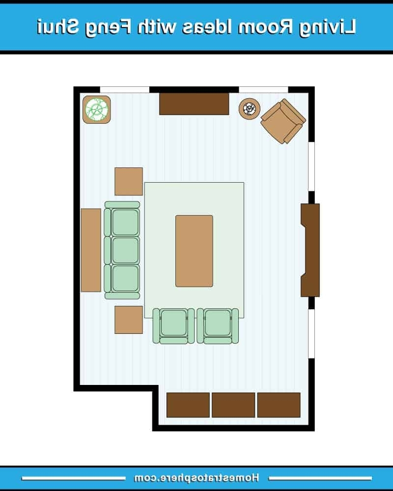 81 Feng Shui Living Room Rules, Colors And 12 Layout Diagrams Feng Shui Small Living Room Layout