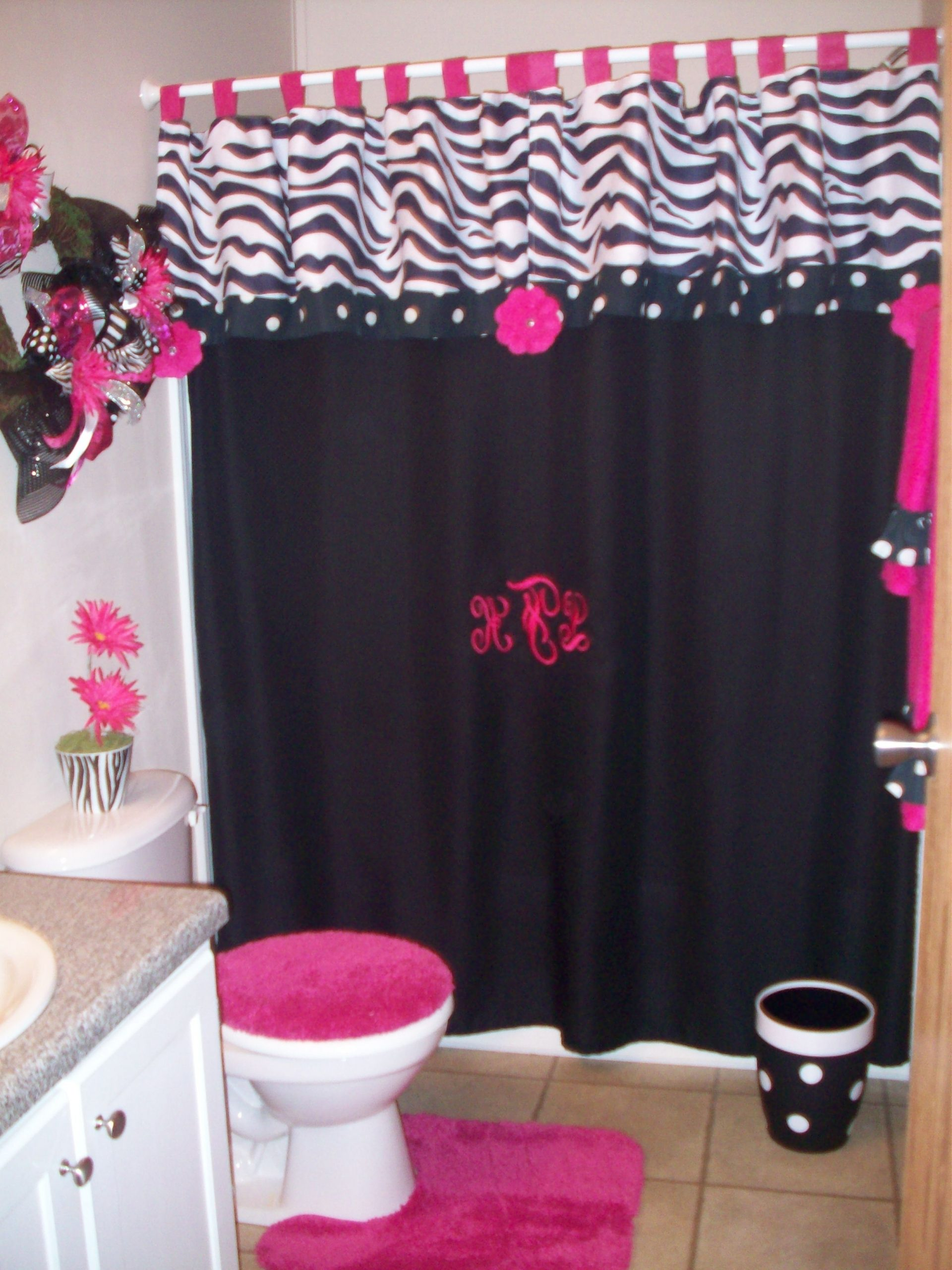 A Little Too Much For Me But Would Tie In Perfectly For The Zebra Bathroom Decorating