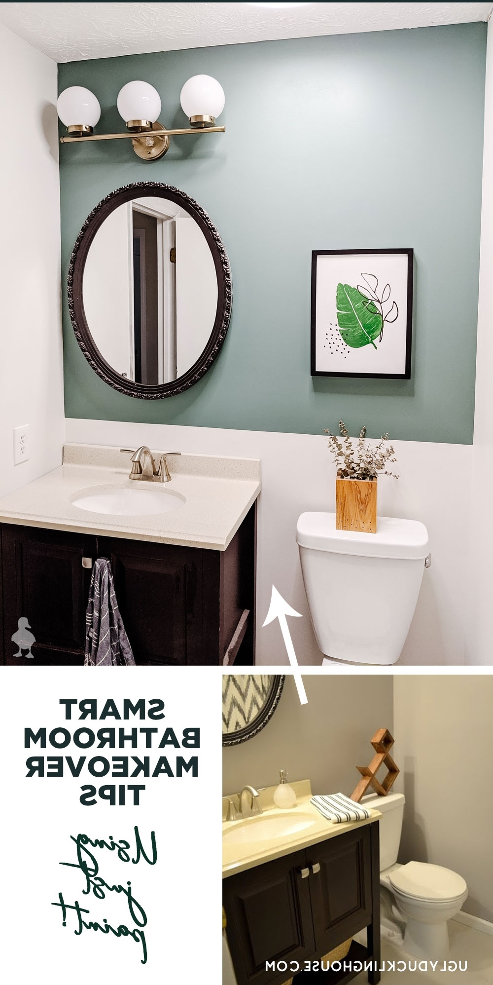A Quick Refresh For The Guest Bath! • Ugly Duckling House 30+ Windowless Bathroom Paint Ideas