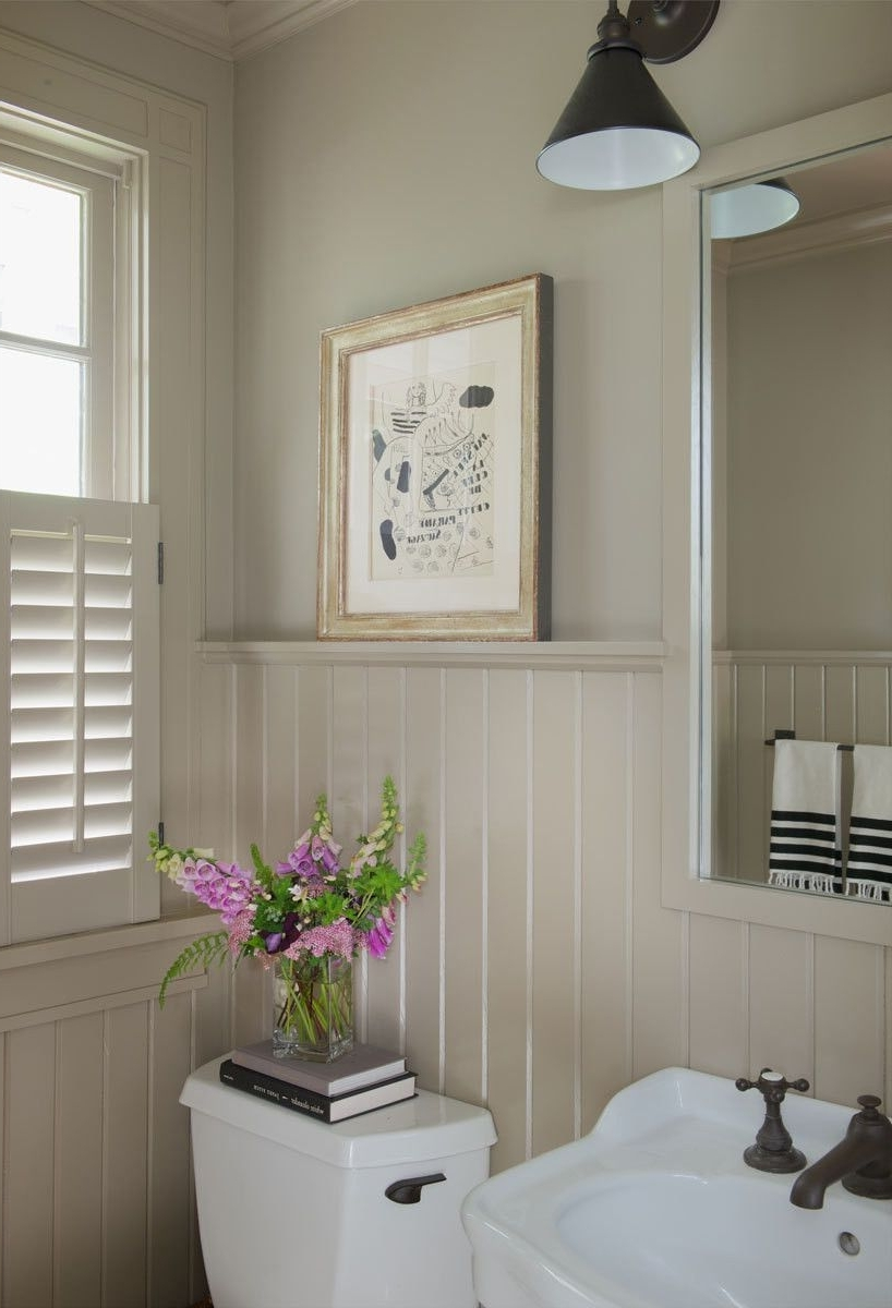 A Storybook Cottage In Connecticut | Beadboard Bathroom Wainscoting Bathroom Pictures