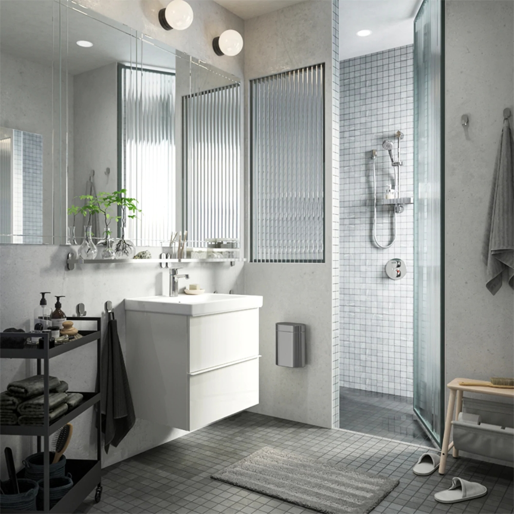 A Streamlined Look From The Shower To The Sink   Serene Bathroom Design Tool Ikea