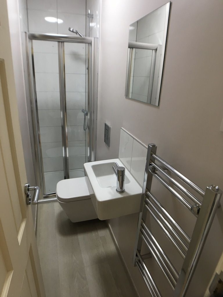 Adding A Long, Narrow Ensuite In Leeds Uk Bathroom Guru Narrow Ensuite Bathroom