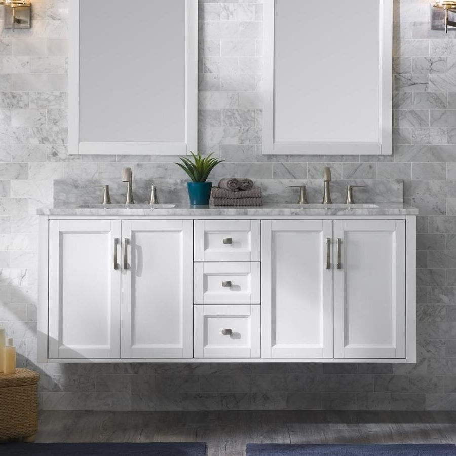 Allen + Roth Floating 60 In White Double Sink Bathroom 20+ Allen Roth Bathroom Designs Ideas