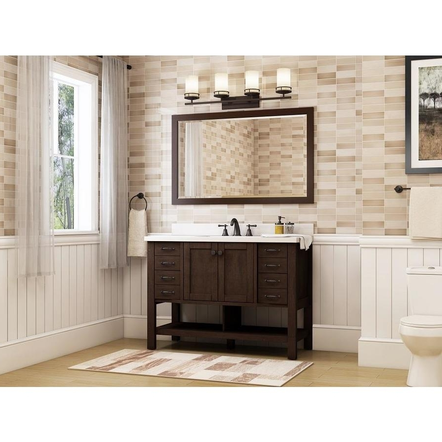 Allen + Roth Kingscote 48 In Espresso Single Sink Bathroom Vanity With White Engineered Stone Top 20+ Allen Roth Bathroom Designs Ideas