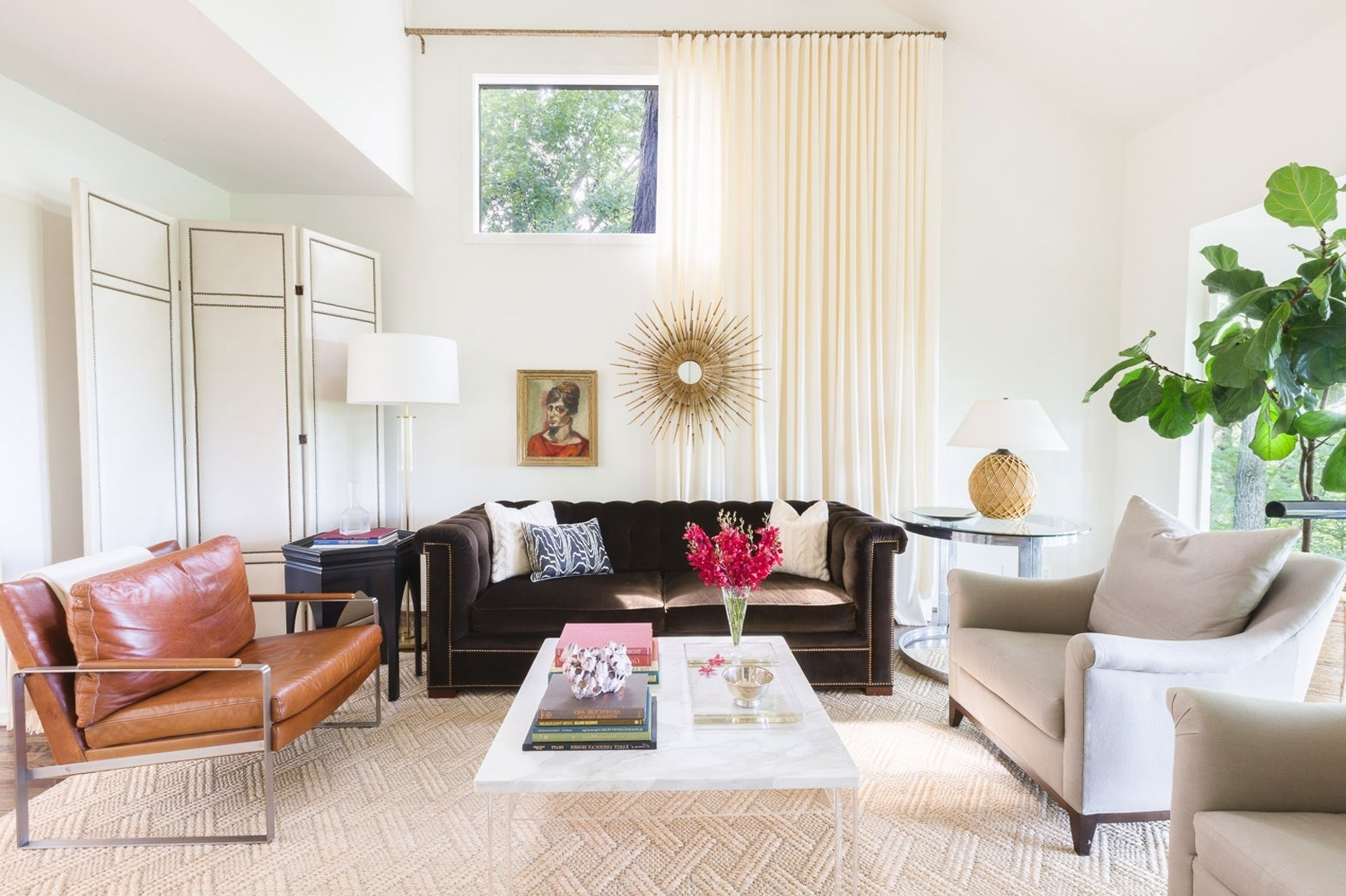 An Amazing Before And After Living Room Renovation Architectural Digest Small Living Room
