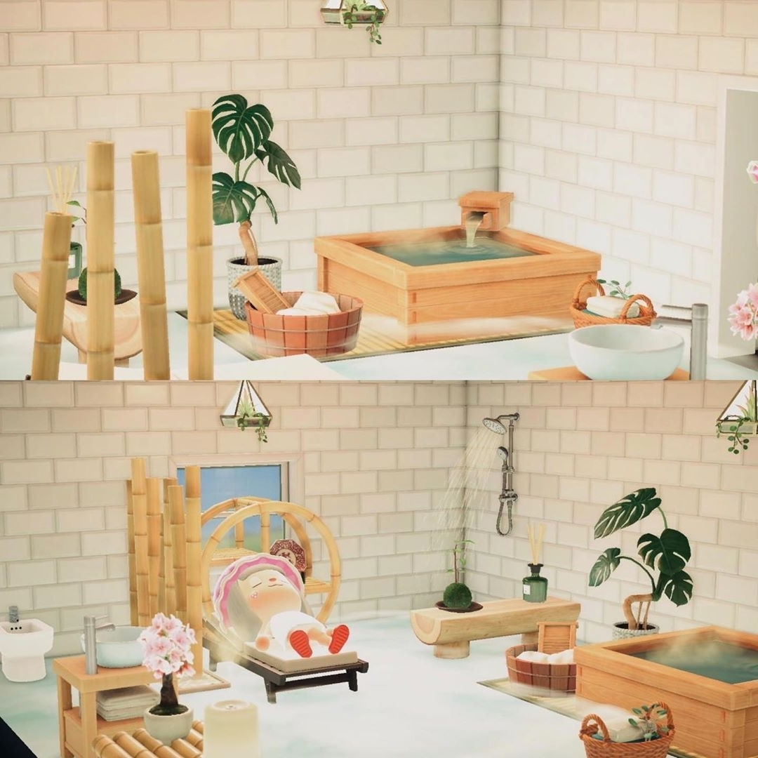 """Animal Crossing New Horizons Posted On Instagram: """"Relaxing 20+ Acnl Bathroom Ideas"""