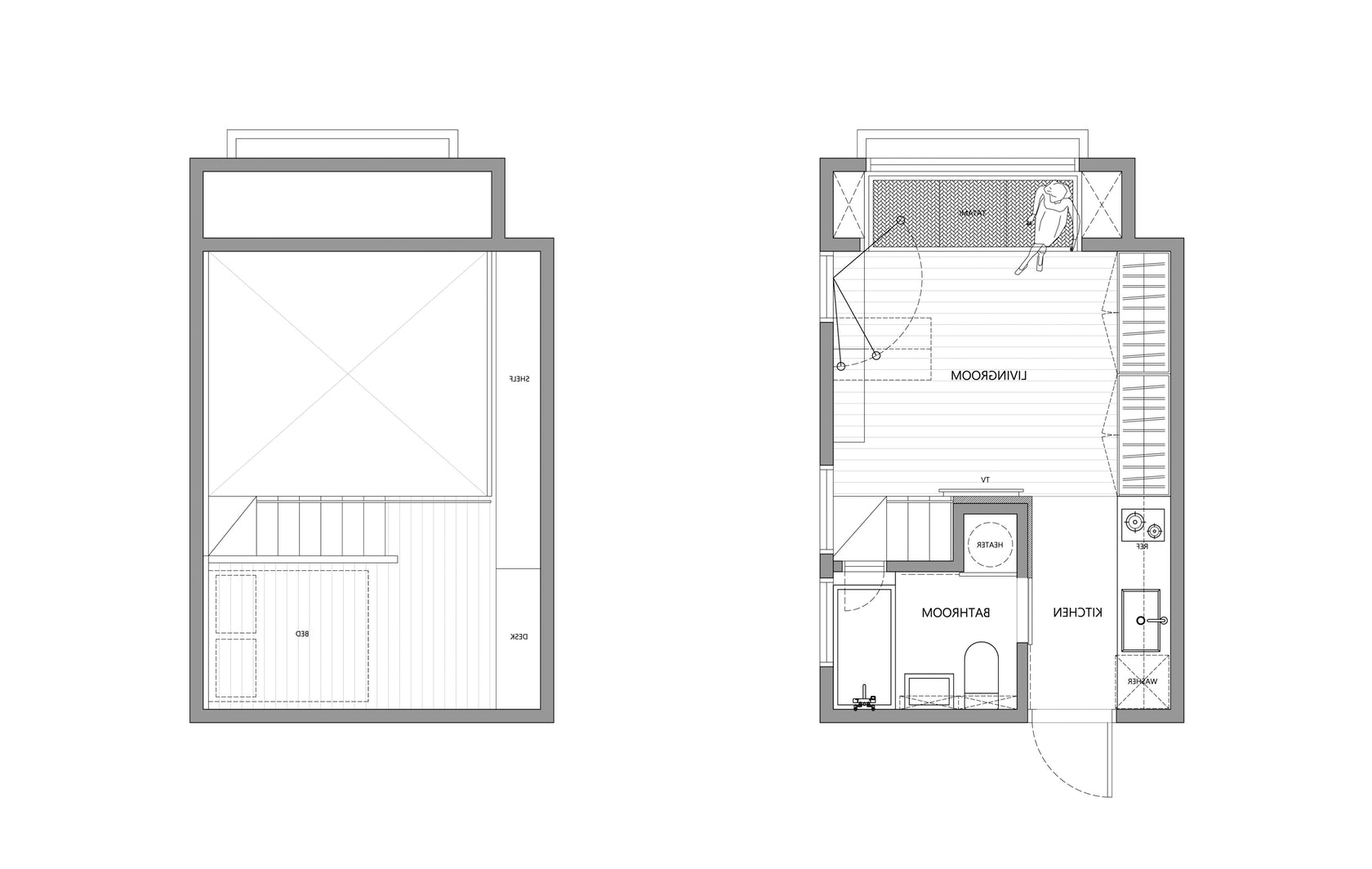 Architectural Drawings: 10 Clever Plans For Tiny Apartments 10+ Micro Apartment Design Plans Inspirations