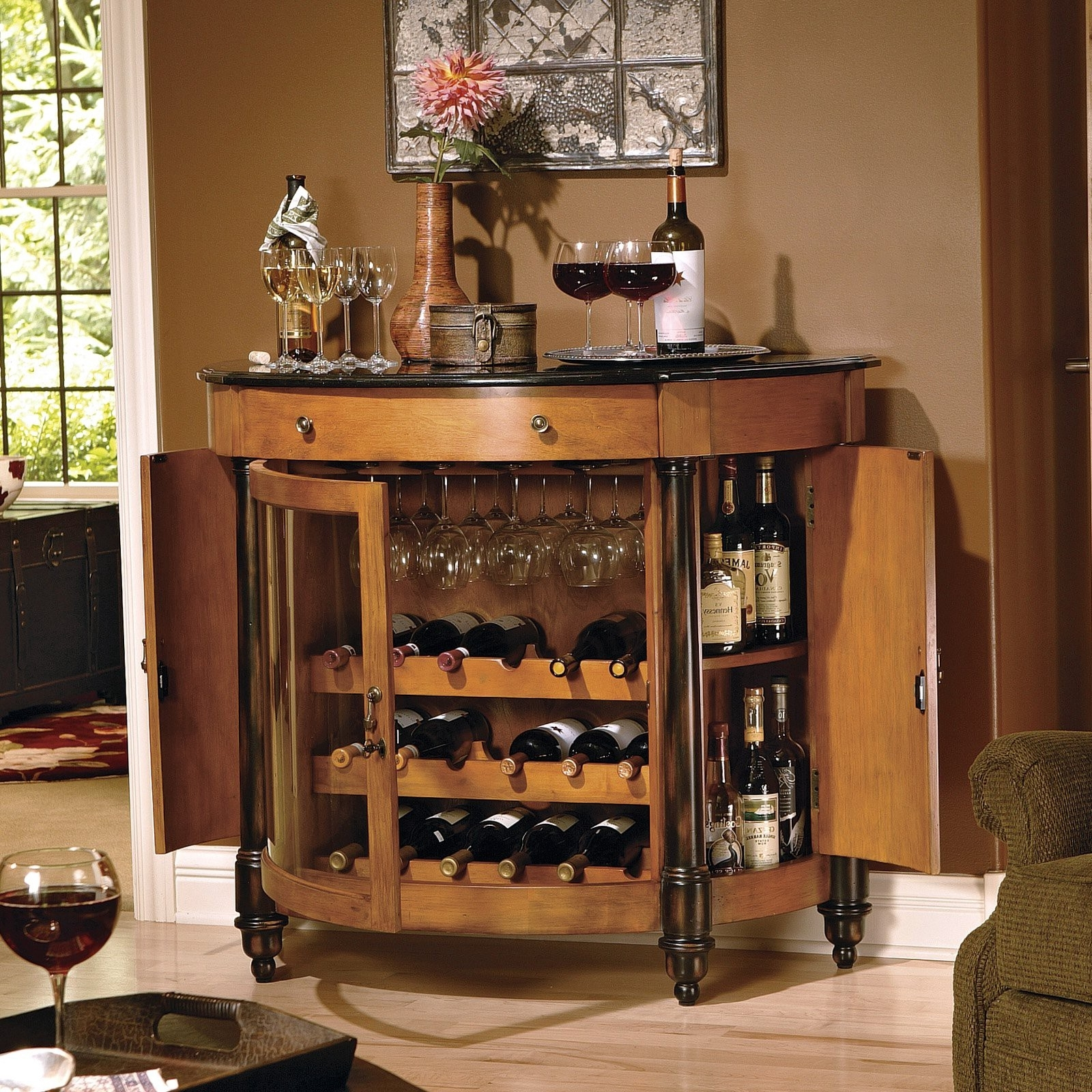 Arrange A Mini Bar. First Of All Before The Equipping A Small Living Room With Minibar