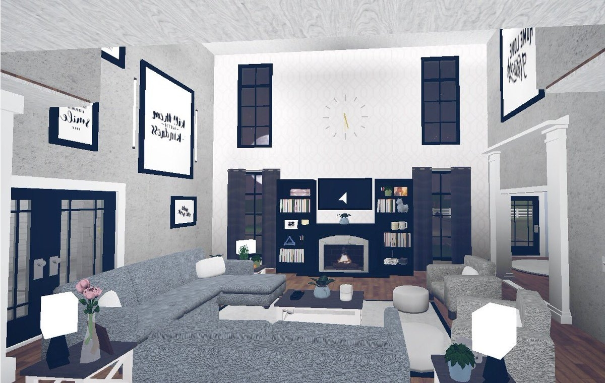 """Ash On Twitter: """"Livingroom And Kitchen ? @Rbx Coeptus Bloxburg Living Room And Kitchen"""