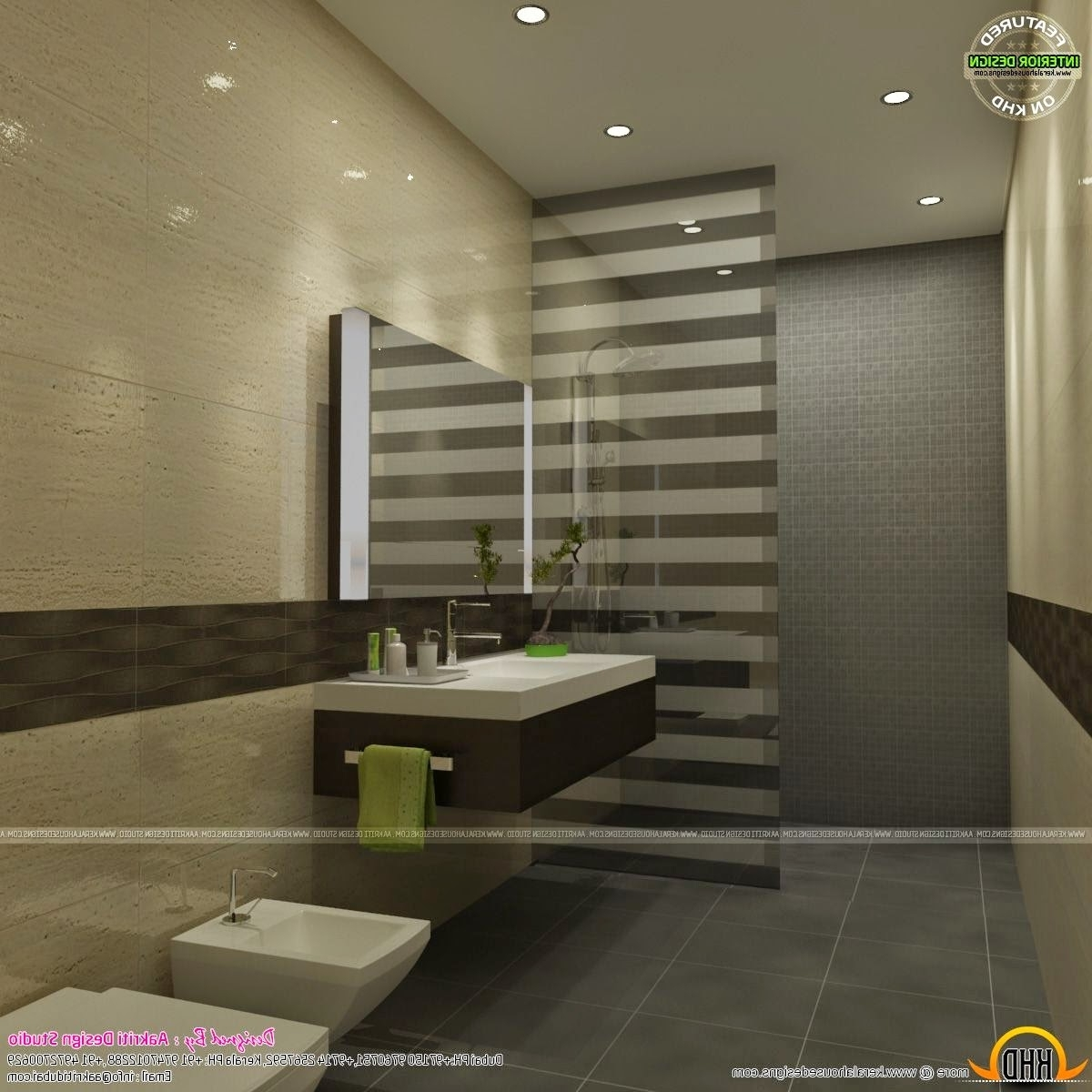 Awesome Interiors Of Living, Kitchen And Bathroom Kerala Kerala Home Design Interior Bathroom