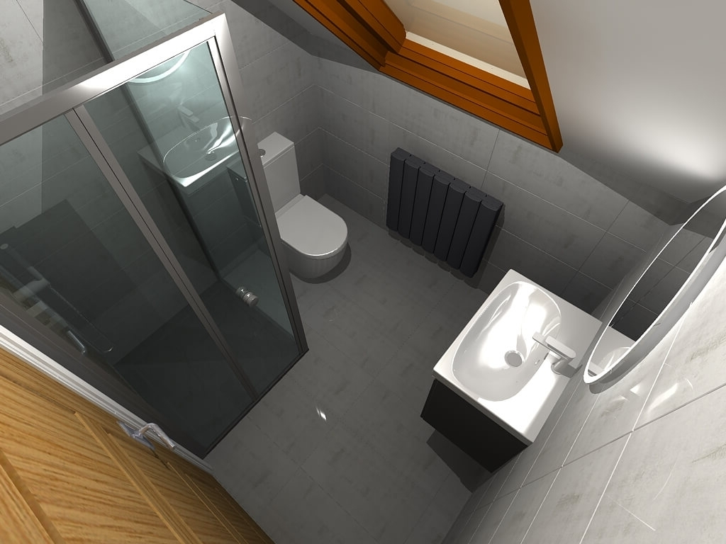 Bathline Projects | Small Bathroom Refurb In Belfast Small Ensuite Bathroom Ireland