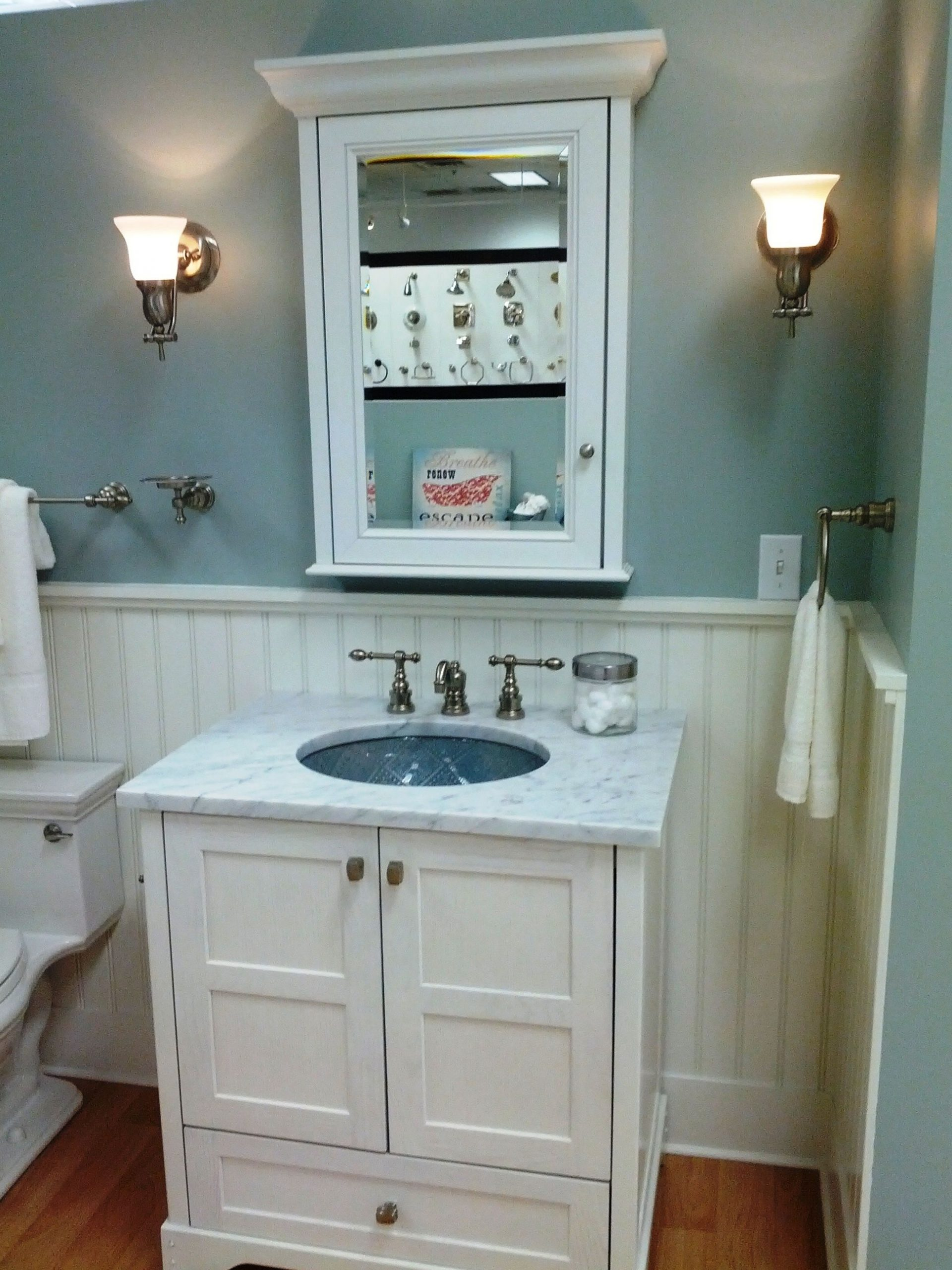 Bathroom Eye Candy | Daley Decor With Debbe Daley | Bathroom Small Bathroom Designs With Wainscoting