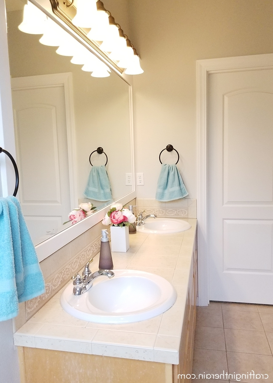 Bathroom Makeover With Frogtape Crafting In The Rain 10+ Frog Tape Bathroom Inspirations
