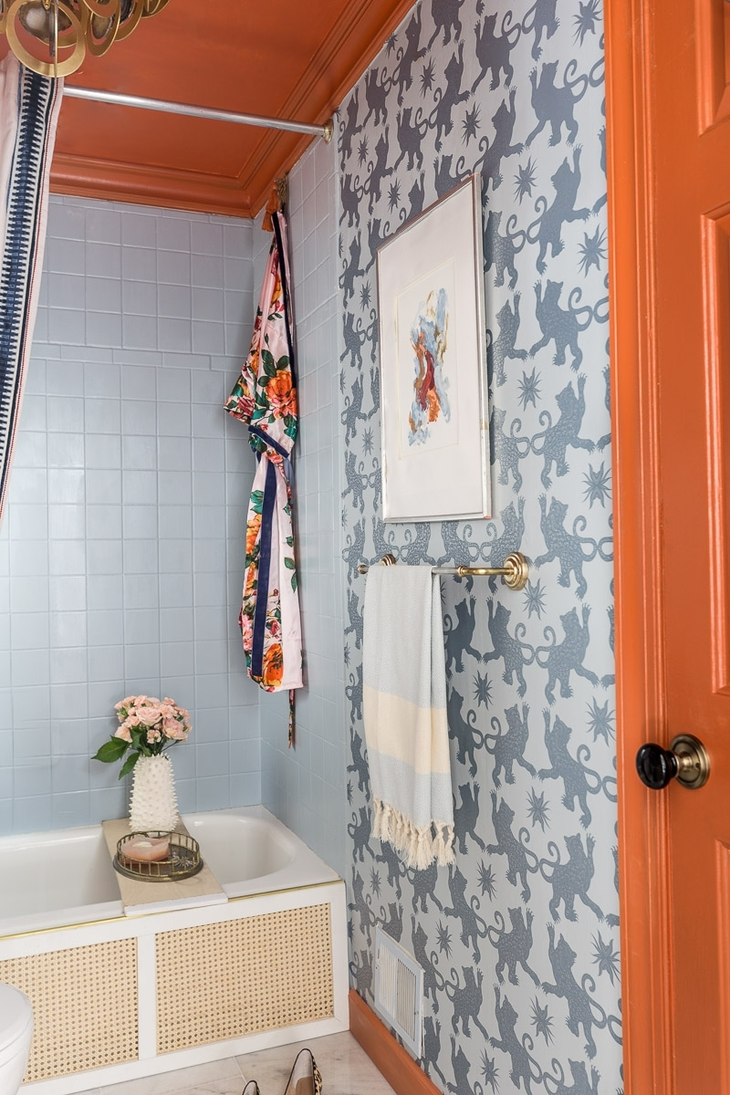 Bathroom Tile Paint | Tutorial And Honest Review ⋆ Jeweled 10+ Frog Tape Bathroom Inspirations