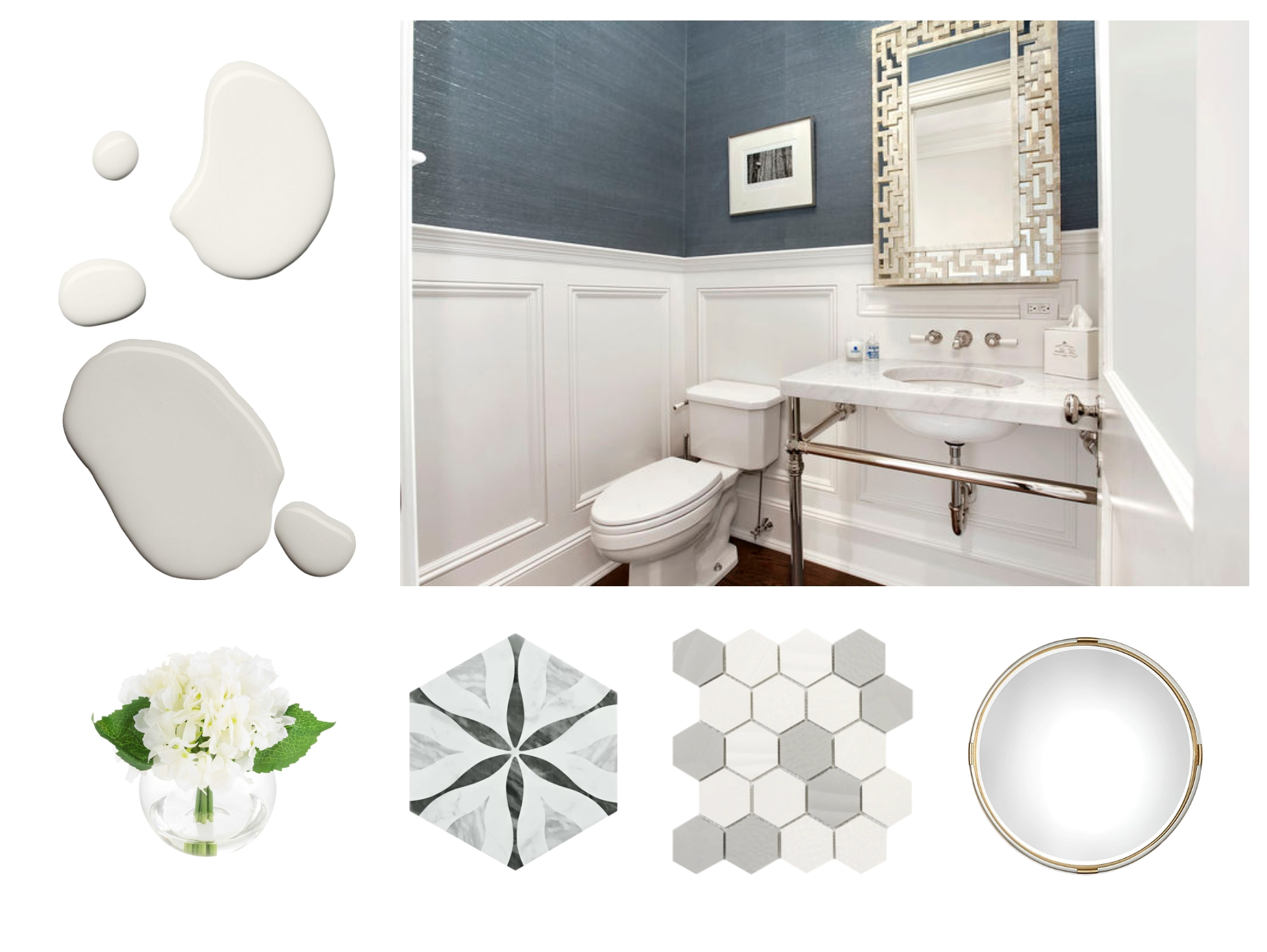 Bathroom Updates And Wainscoting Heights ? | Decorist 20+ Wainscoting Bathroom Pictures Inspirations