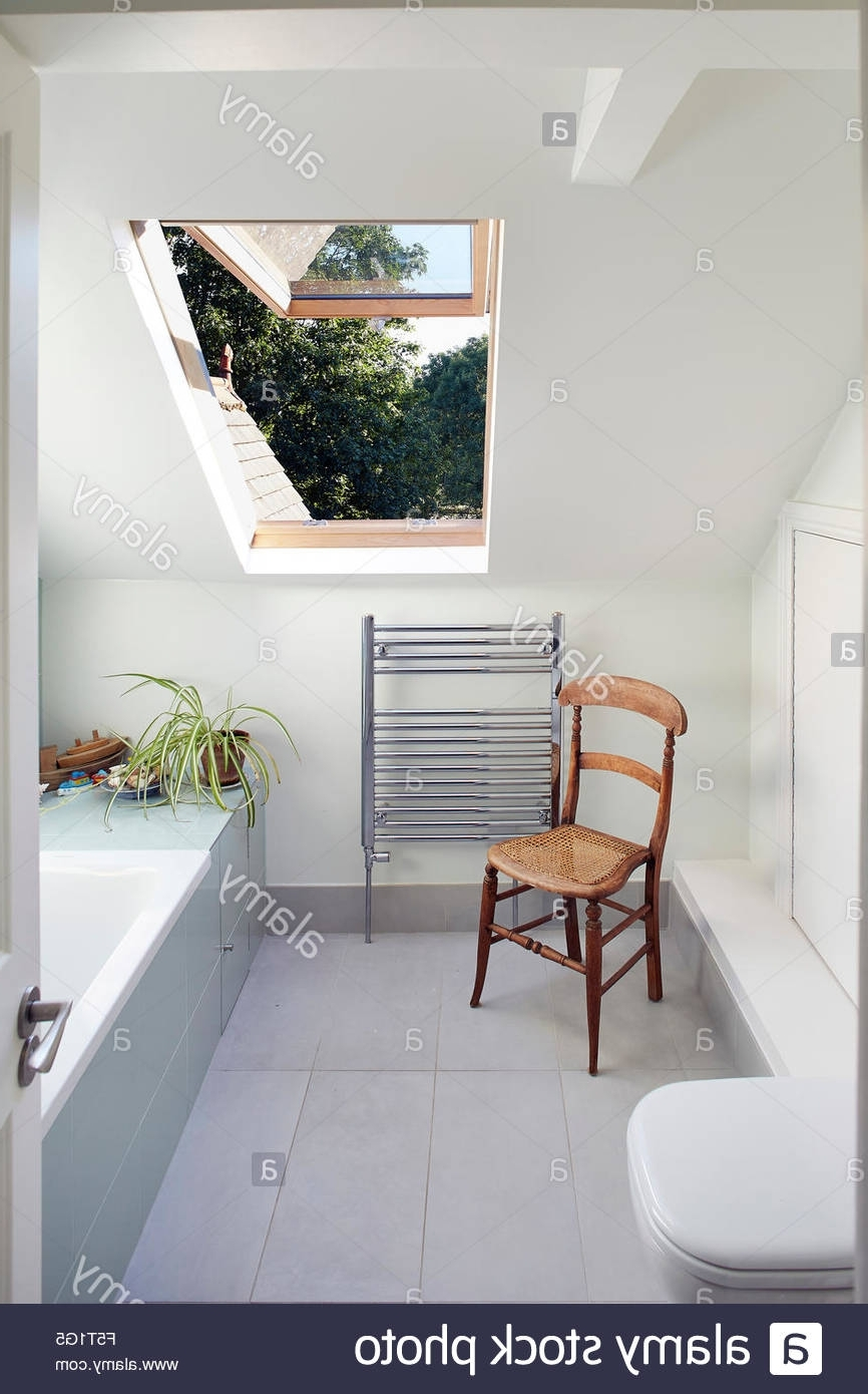 Bathroom With Pitched Roof And Velux Window. Wendell Rd 10+ Pitched Roof Bathroom Ideas
