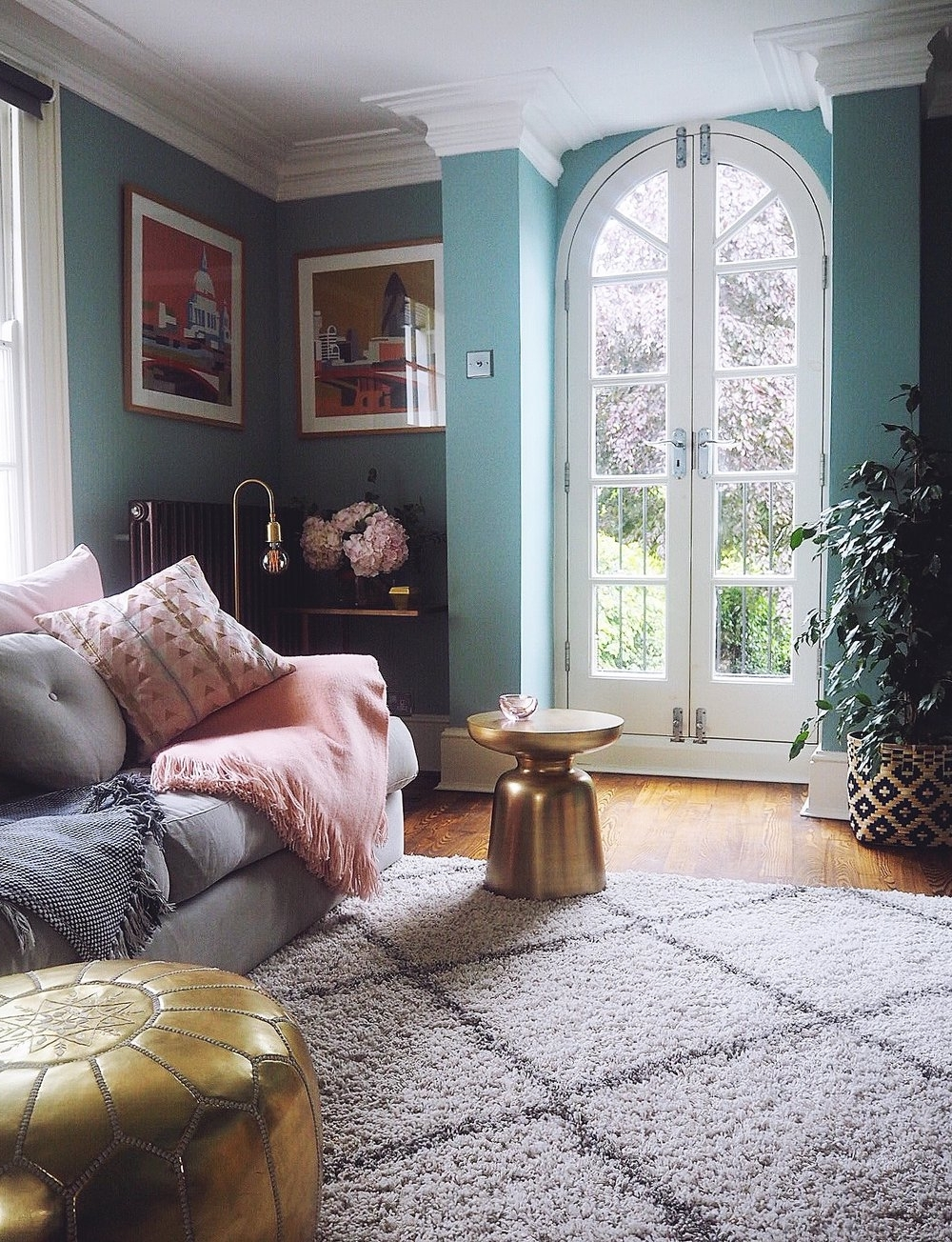 Before & After: Decorating My Living Room Blue — Melanie 20+ Farrow And Ball Light Blue Living Room Inspirations