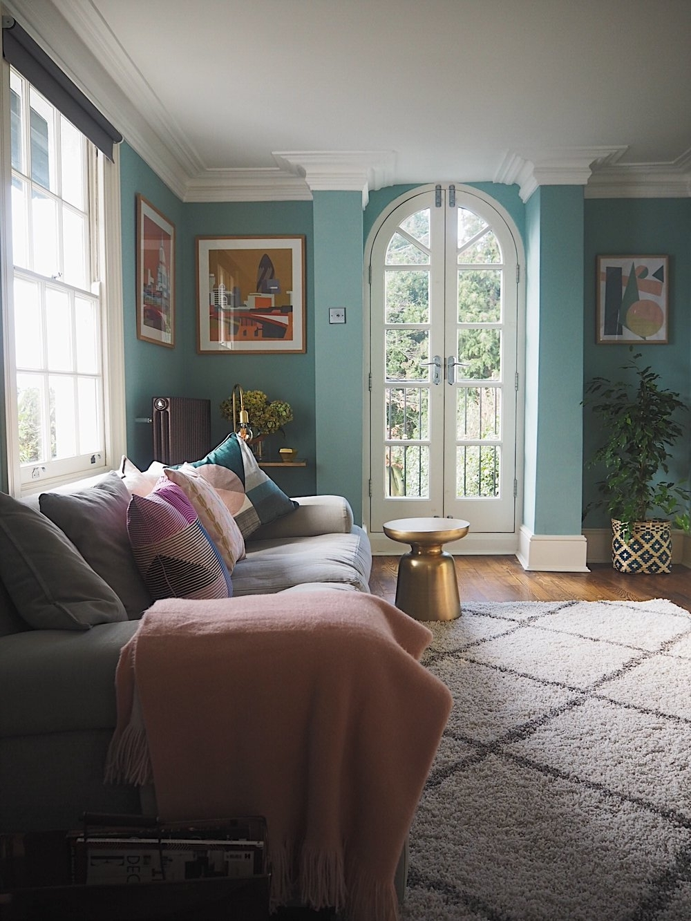 Before & After: Decorating My Living Room Blue — Melanie 40+ Light Blue Farrow And Ball Living Room Inspirations