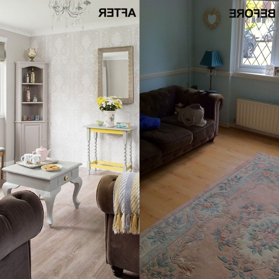 Before And After: Paint And Wallpaper Have Transformed This Dado Rail Living Room