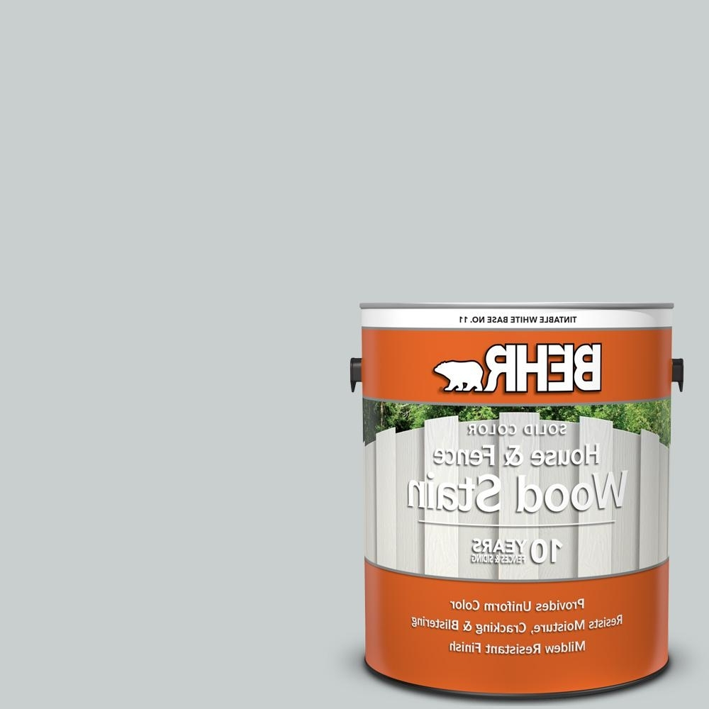 Behr 1 Gal. #720E 2 Light French Gray Solid Color House And Fence Exterior Wood Stain Behr Light French Gray Living Room