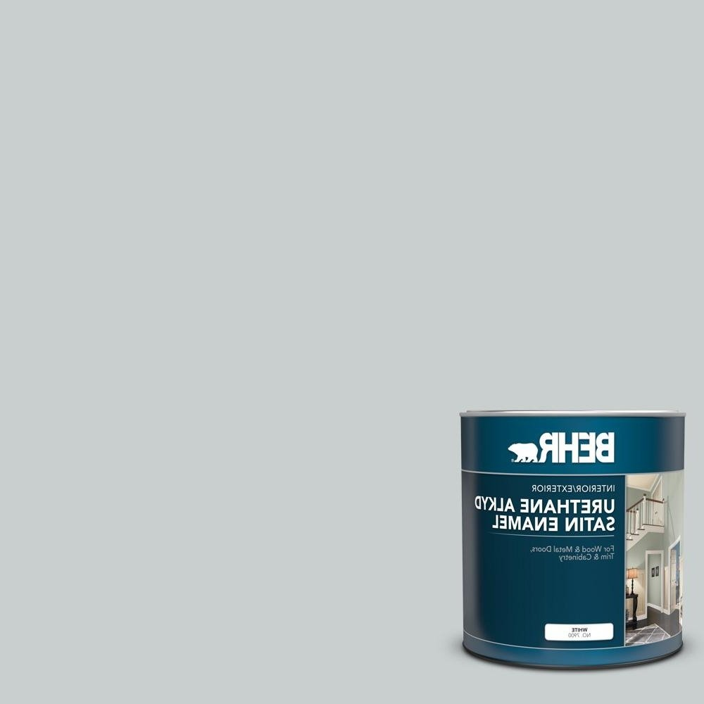 Behr 1 Qt. #720E 2 Light French Gray Satin Enamel Urethane Alkyd Interior/Exterior Paint Behr Light French Gray Living Room