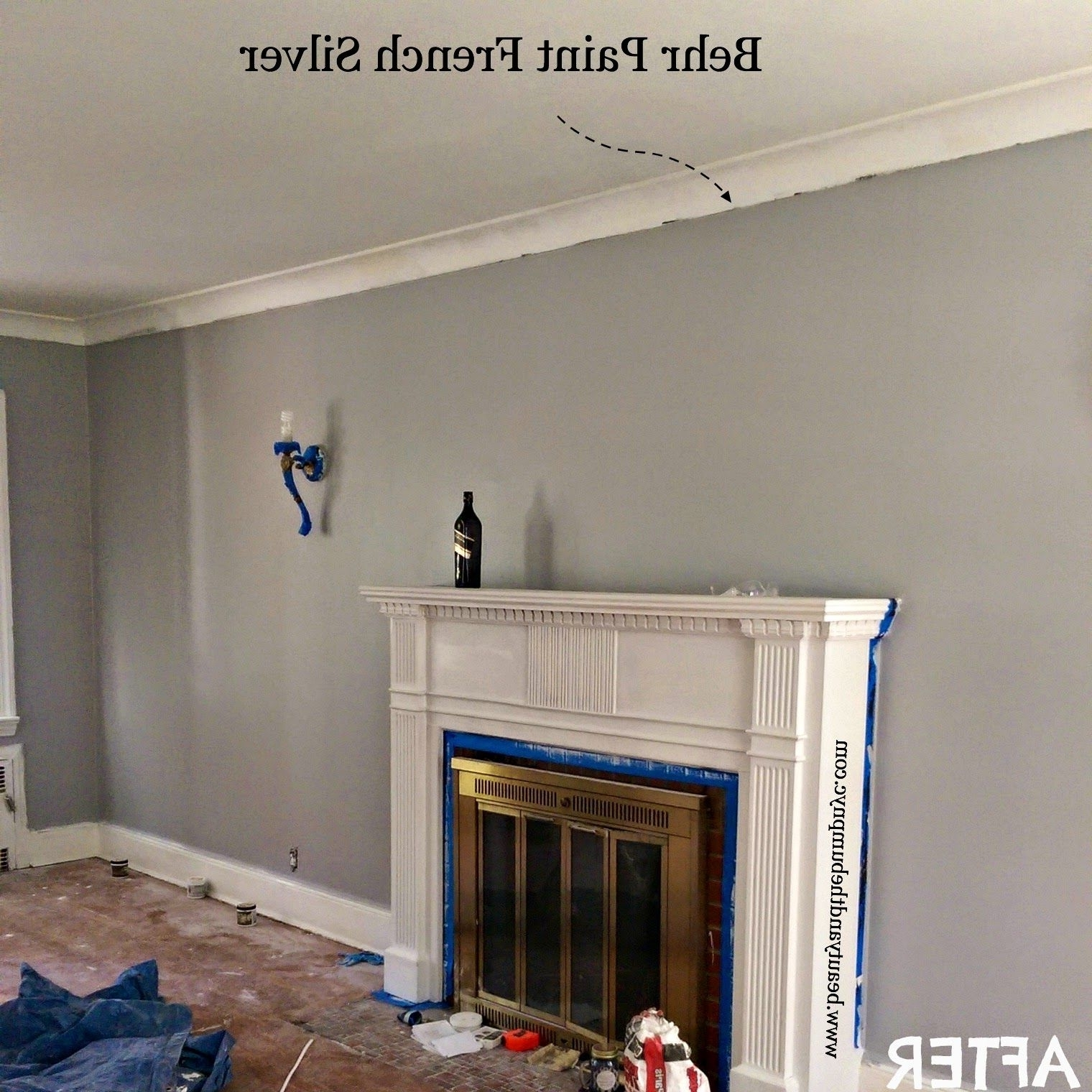 Behr French Silver Living And Dining Rooms | Behr Gray Behr Light French Gray Living Room