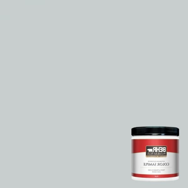 Behr Premium Plus 8 Oz. #720E 2 Light French Gray Flat Interior/Exterior Paint And Primer In One Sample 10+ Behr Light French Gray Living Room Inspirations